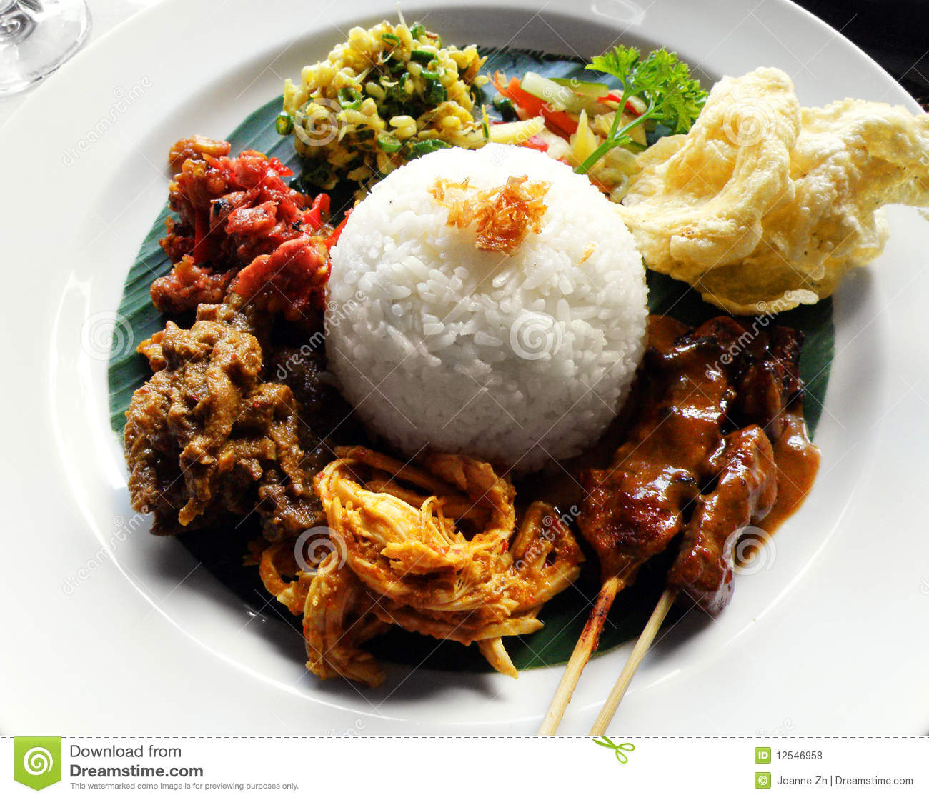 Ethnic asian food nasi campur royalty free stock photos for Asia oriental cuisine