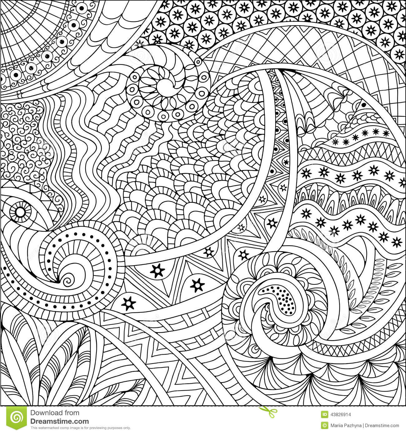 ethnic coloring pages | Ethnic Background Pattern Stock Vector - Image: 43826914