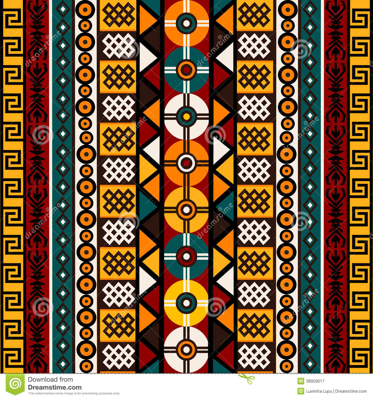 pattern with ethnic and tribal motifs vector illustration. Black Bedroom Furniture Sets. Home Design Ideas