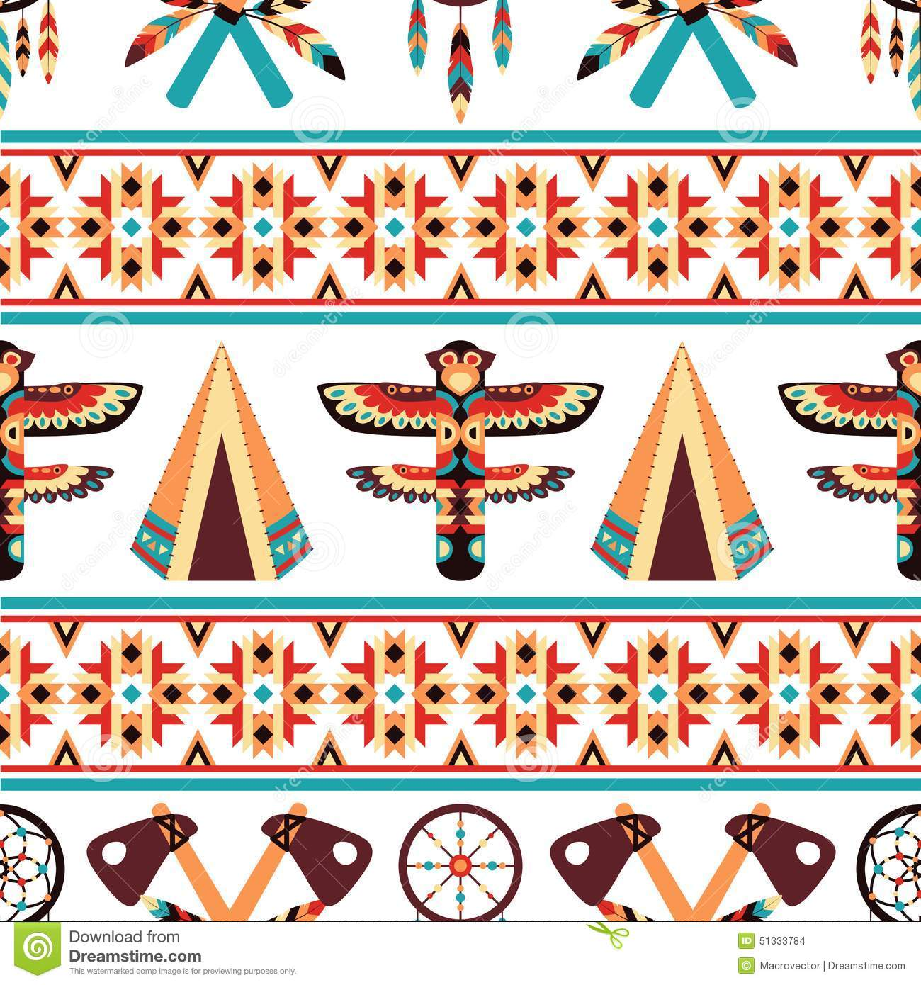 ethnic border pattern design stock vector image 51333784 indian headdress clipart red white and blue indian headdress clip art no background