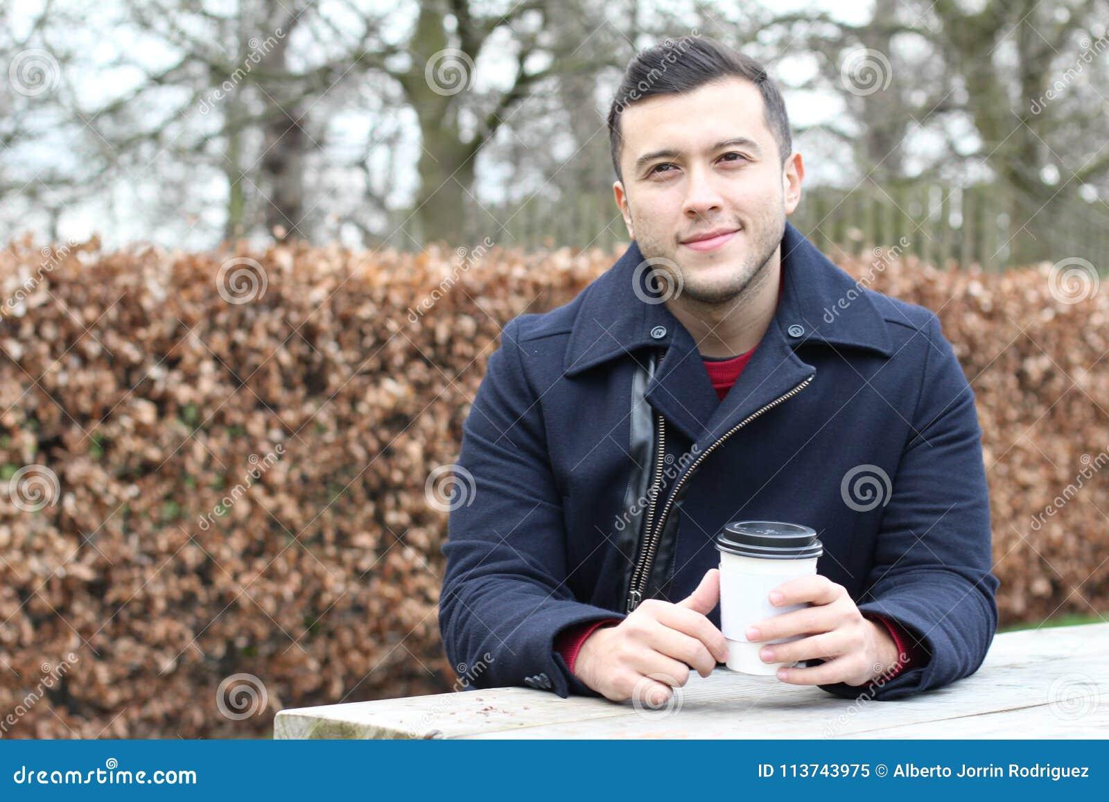 Take Break Coffeebreak : Ethnic businessman taking a coffee break stock image image of