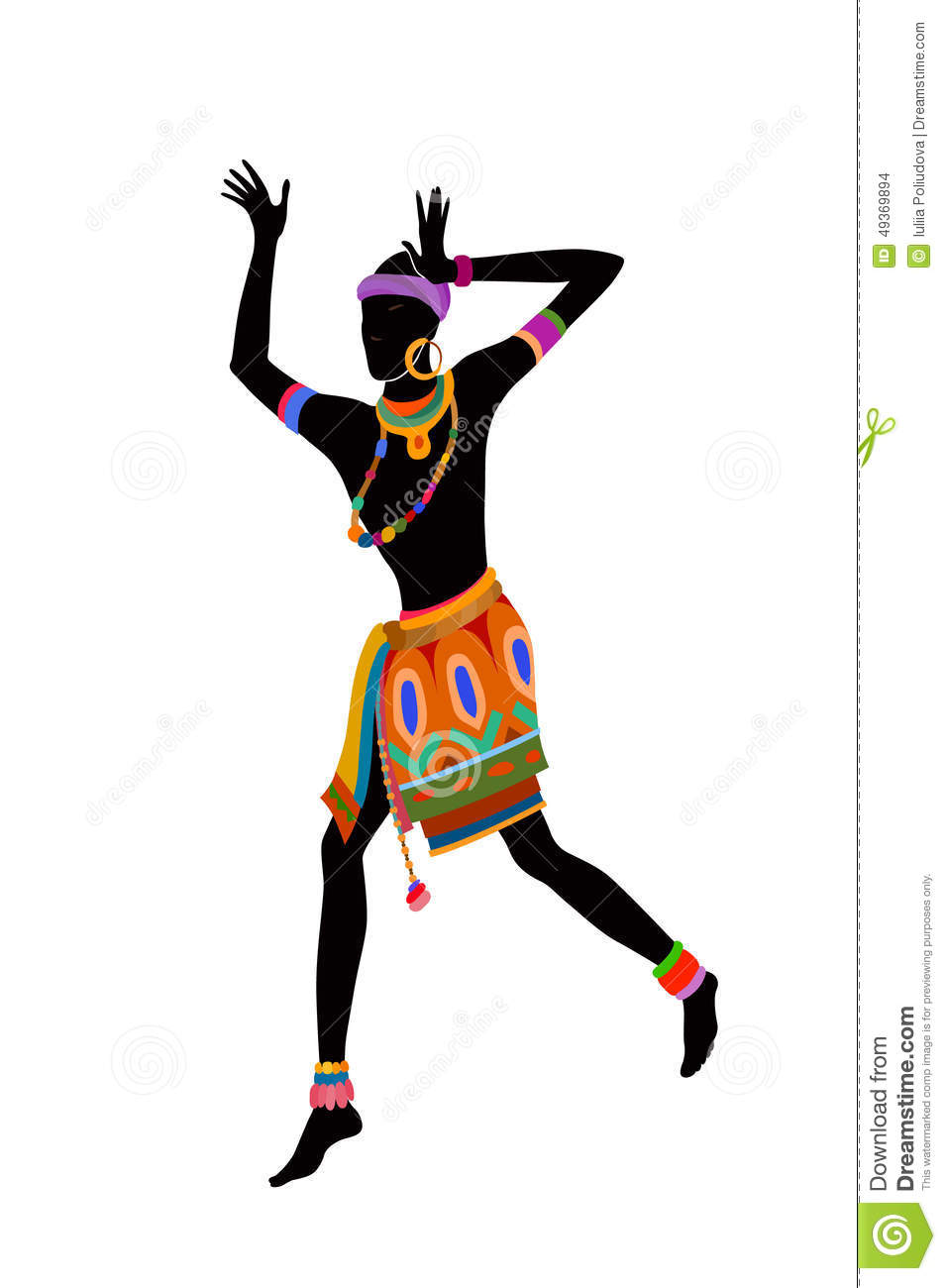 Ethnic dance african man stock illustration  Illustration of