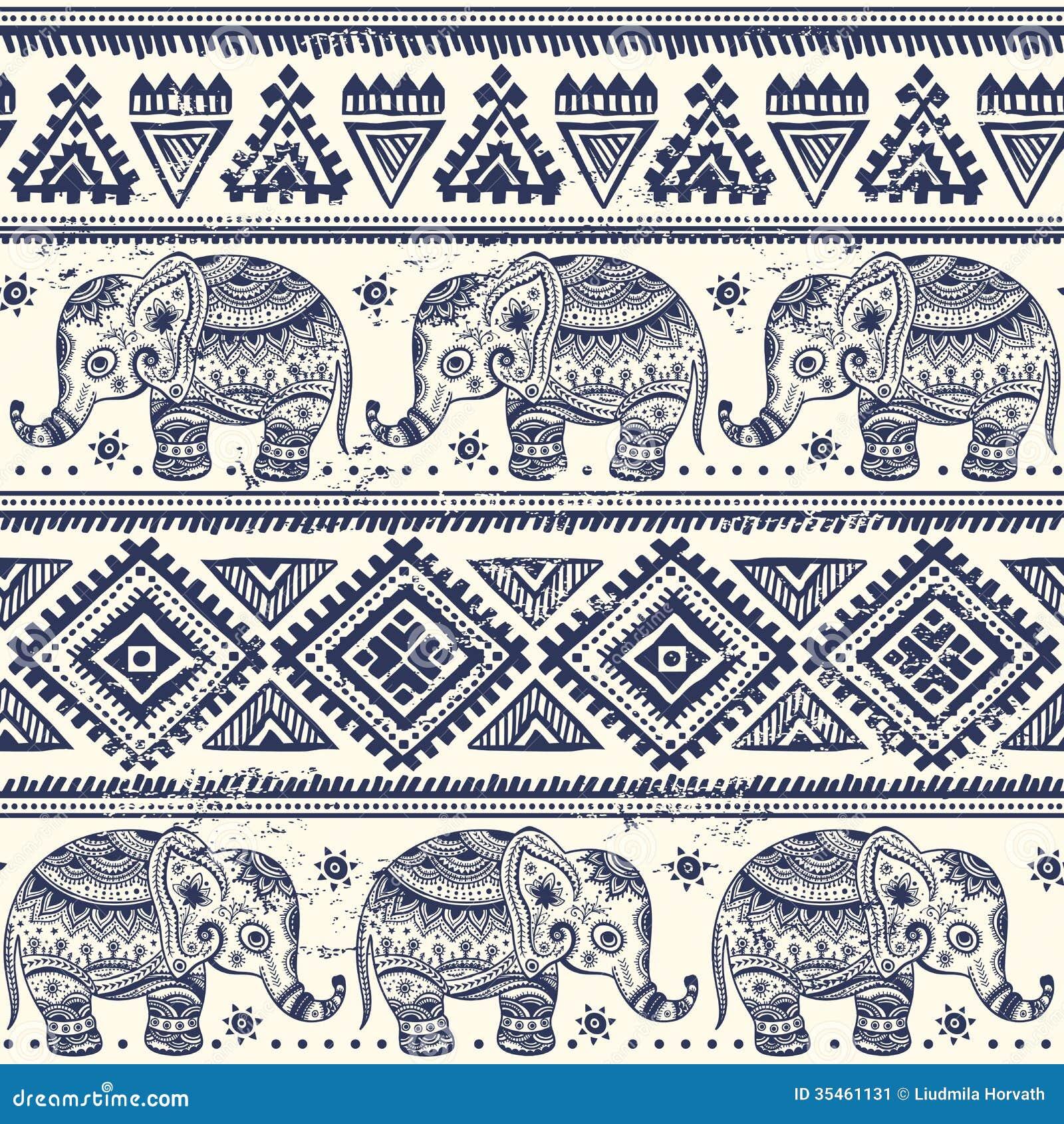 Tribal Elephant Tattoo  30 Aztec Elephant Designs 2018
