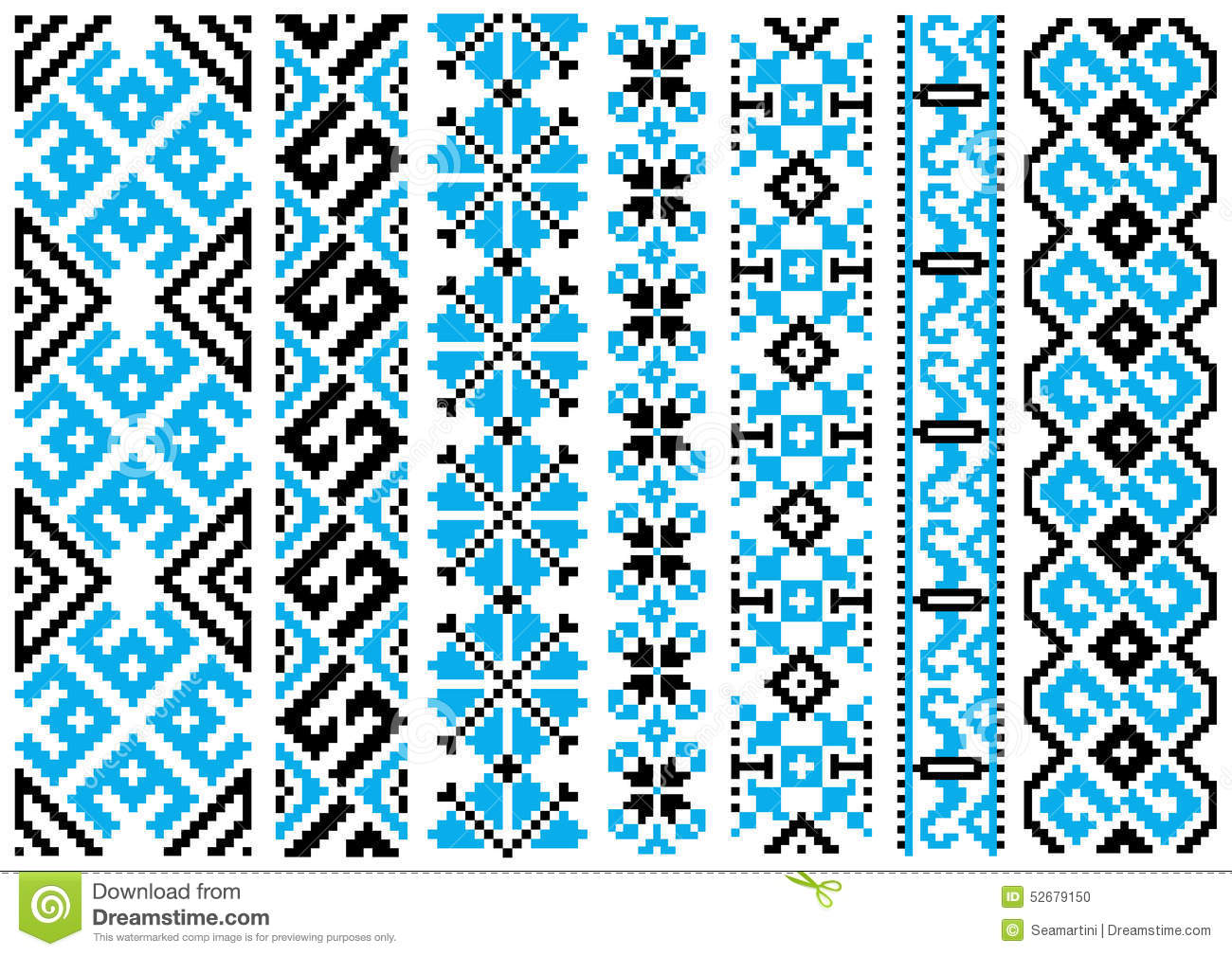 Ethnic embroidery ornaments seamless pattern stock vector
