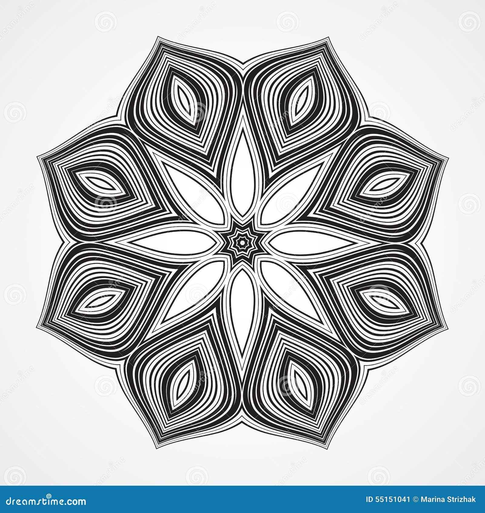 ethnic fractal mandala stock vector image 55151041