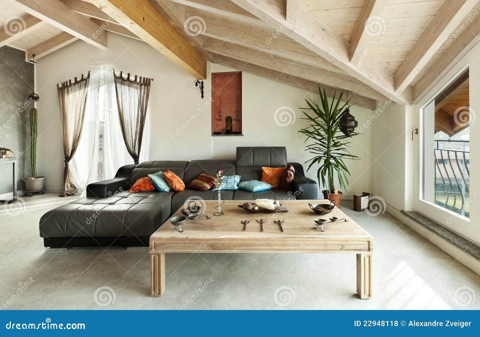 Ethnic furniture living room royalty free stock for Arredamenti loft