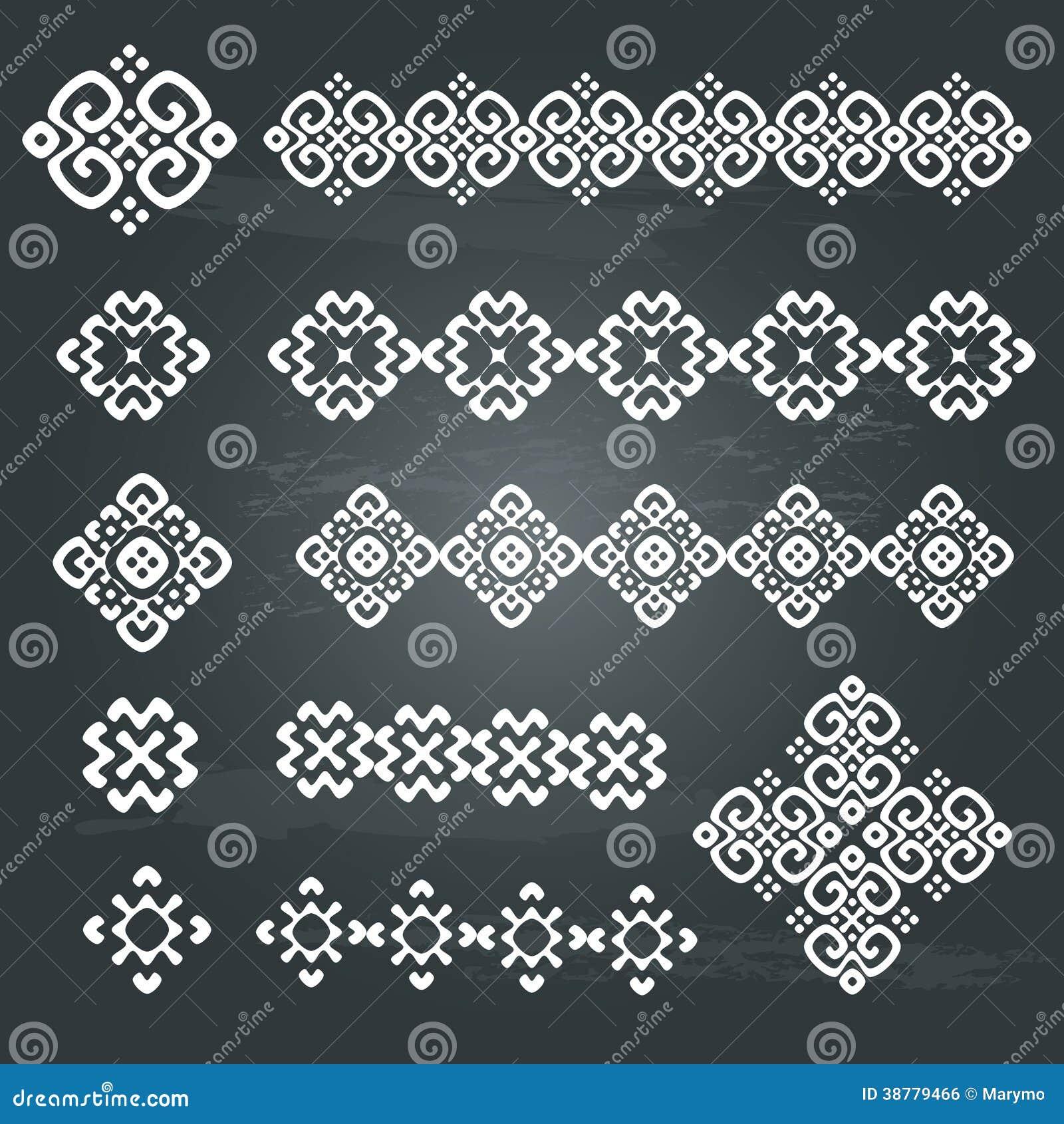 ethnic geometric design set stock vector