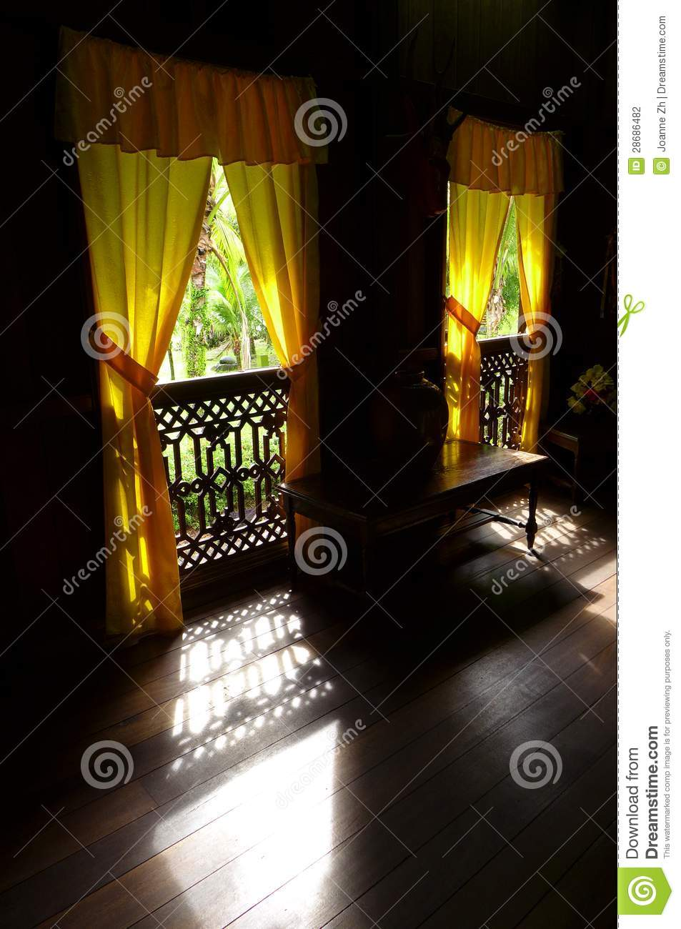 Ethnic Interior Old Malay House Traditional Stock Photo