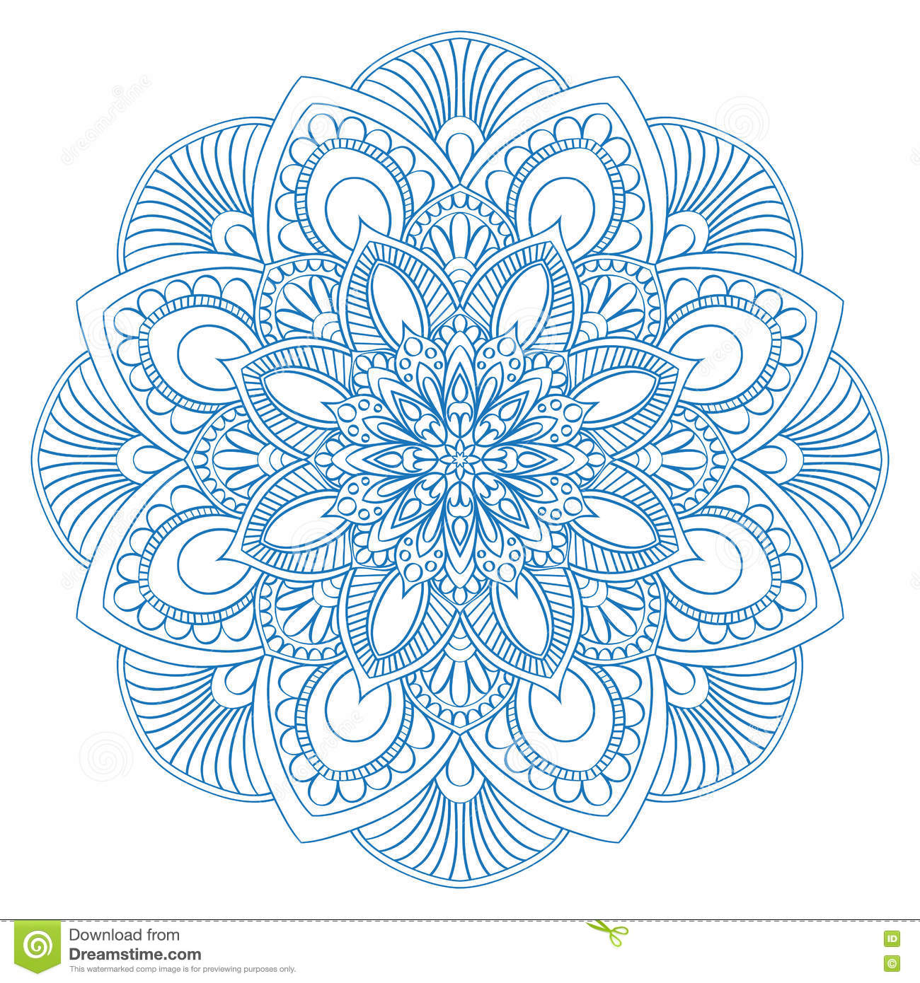 Art stress therapy coloring book - Royalty Free Vector Download Ethnic Mandala Symbol For Coloring Book Anti Stress Therapy Pattern
