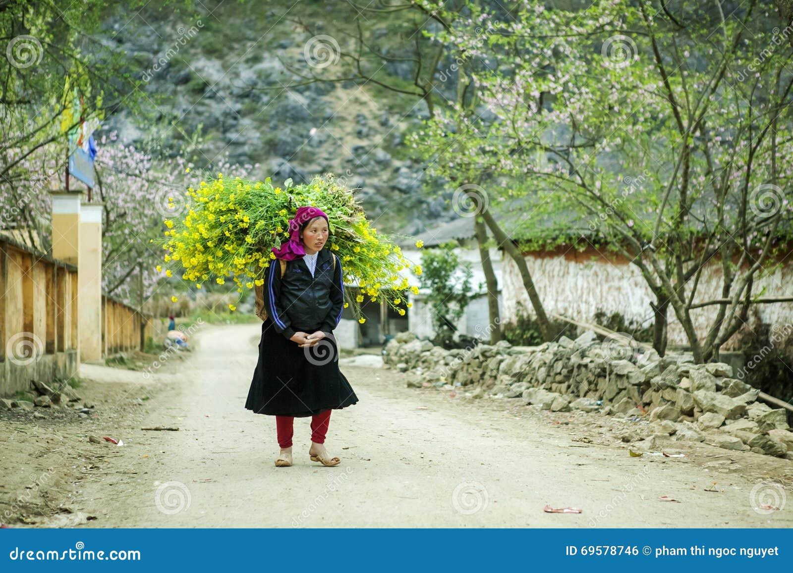 Ethnic minority woman working