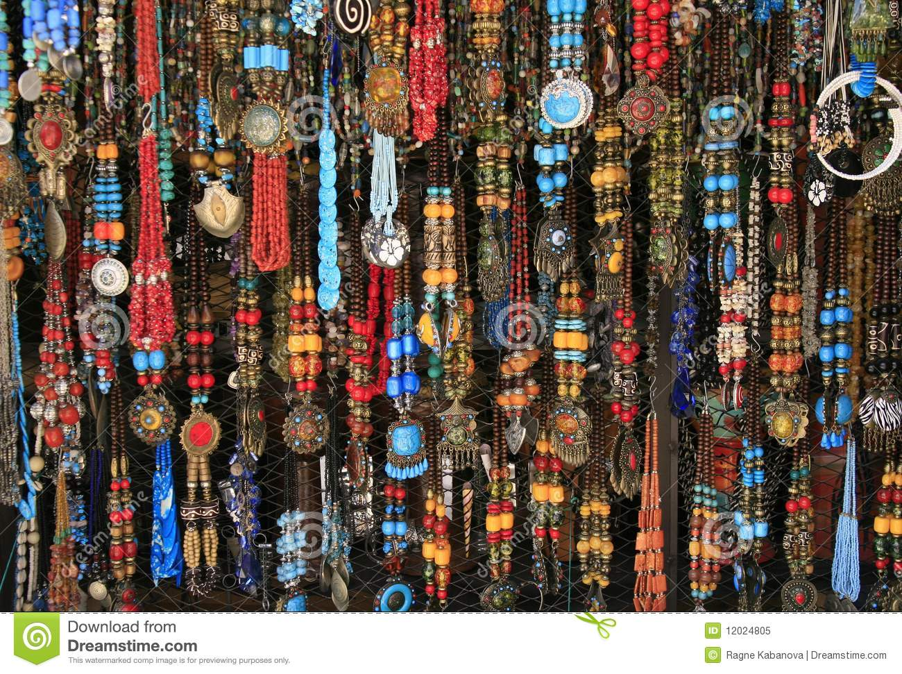 Royalty Free Stock Photo Ethnic Necklaces Village Market Morocco Image12024805 on murano engine