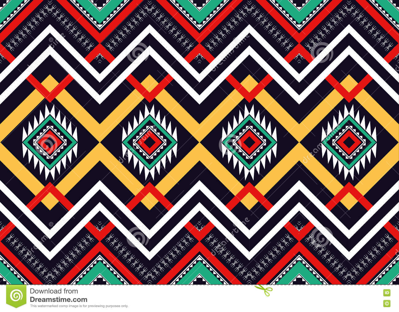Ethnic Pattern Geometric Design For Background Or