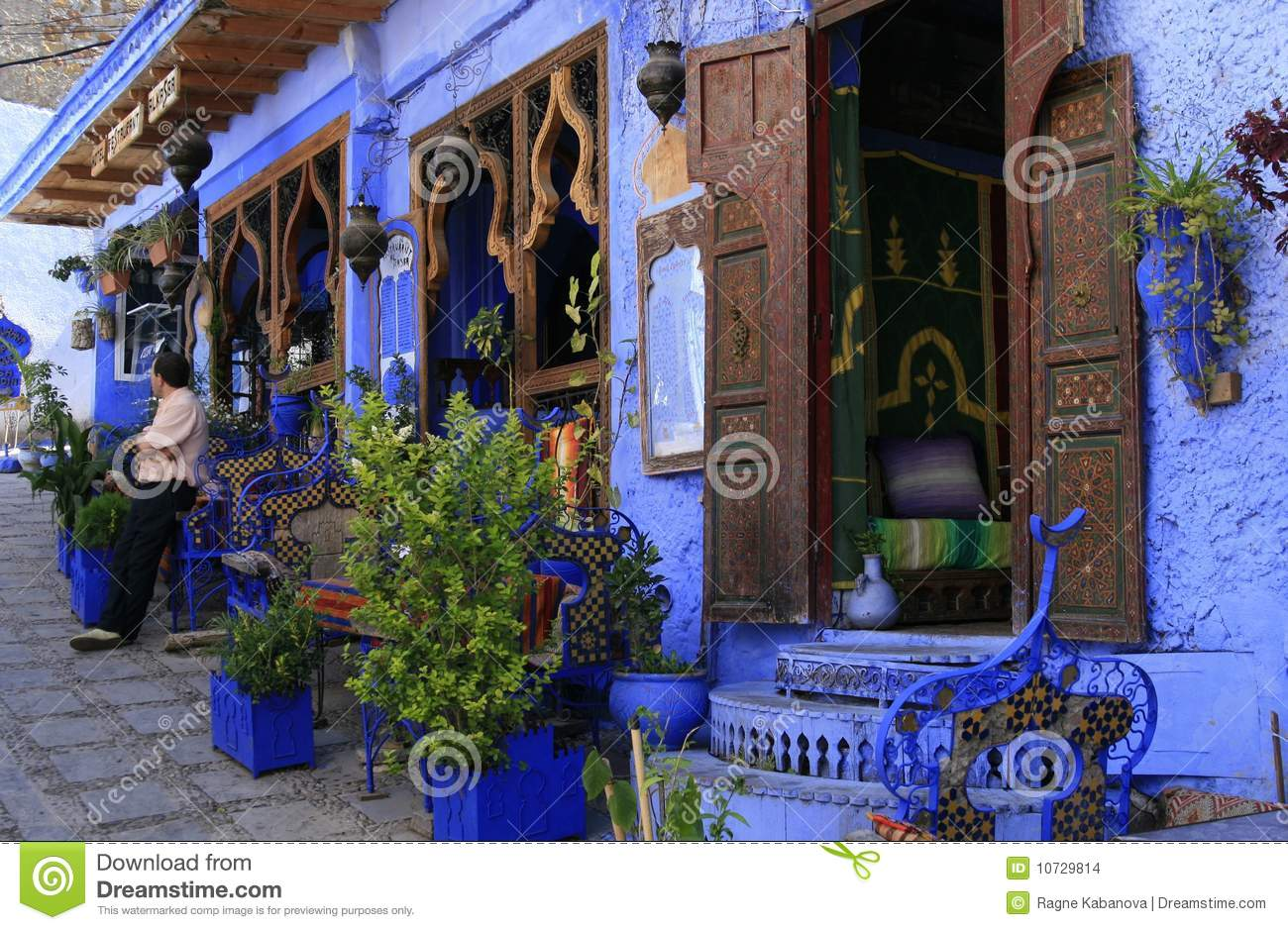 Ethnic Restaurant In Chefchaouen Morocco Stock Photo