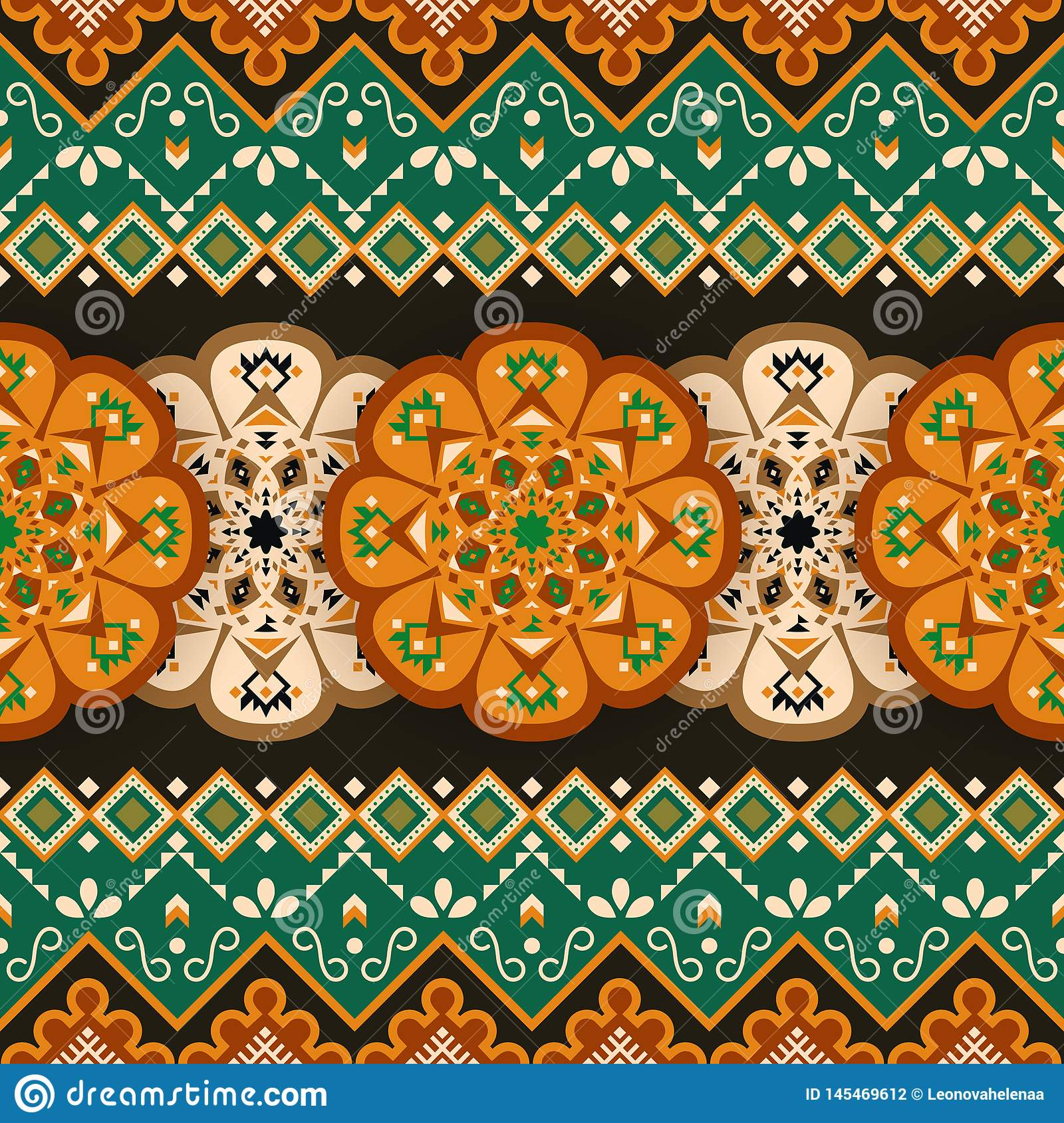 Ethnic seamless pattern. Mexican geometric print
