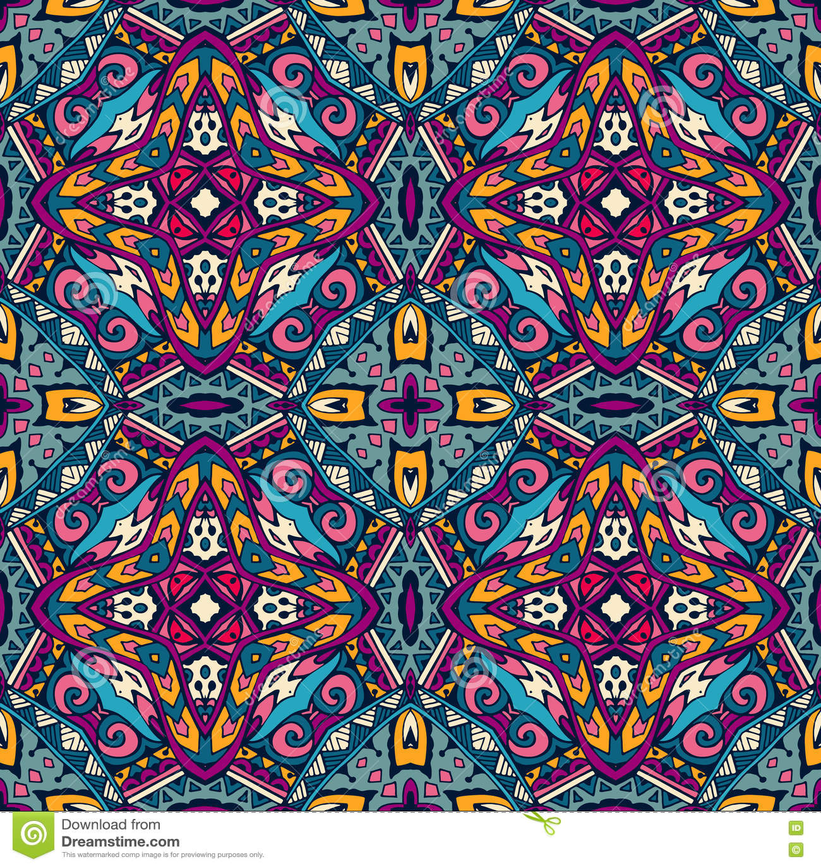 Ethnic seamless vector pattern ornamental