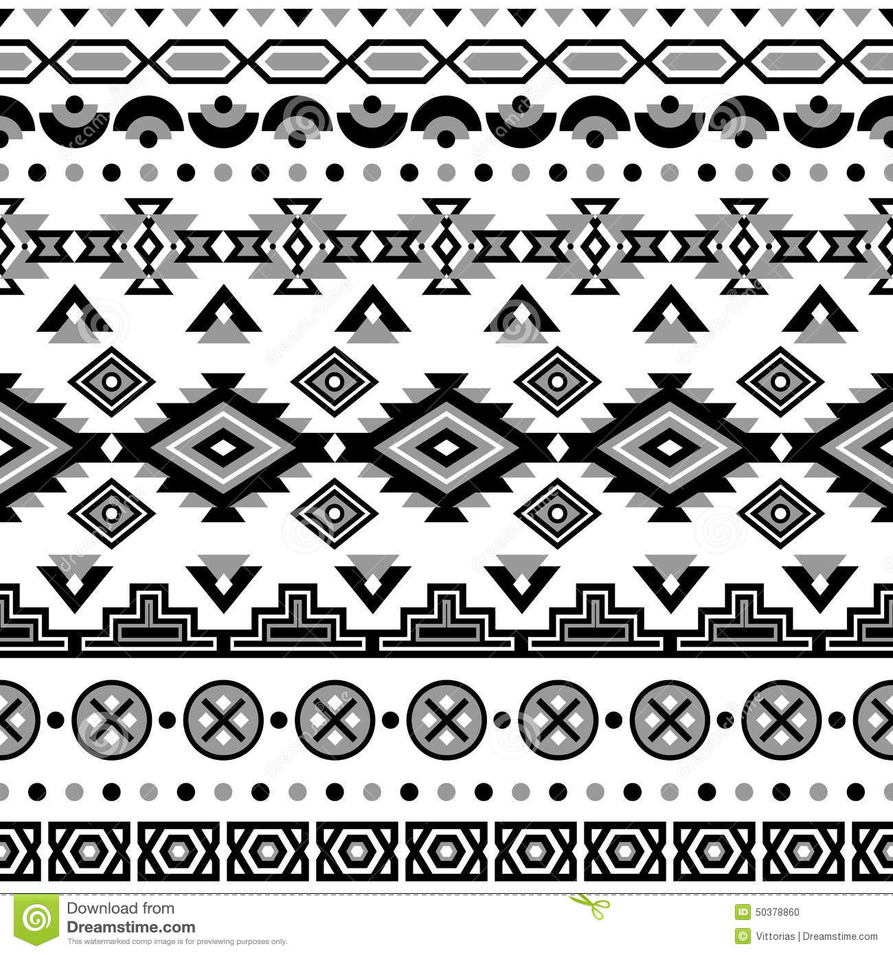 ethnic striped seamless pattern stock vector