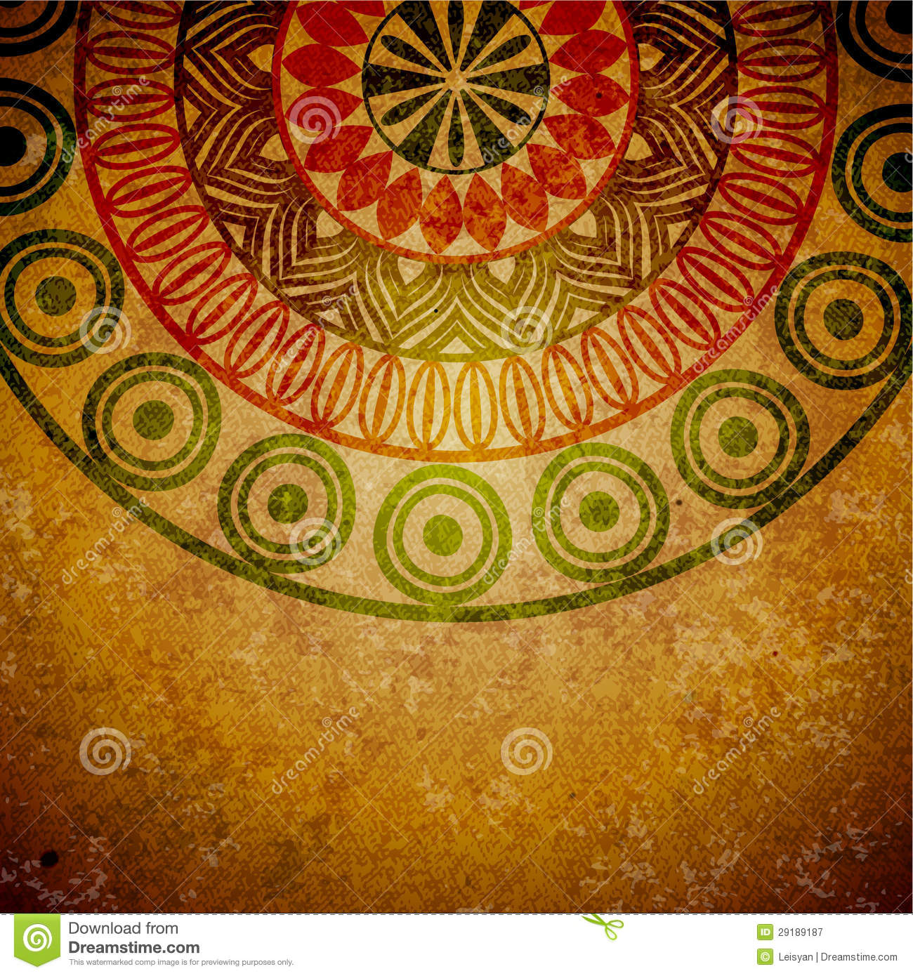 Ethnic Style Background Stock Image Image Of Aged Circle