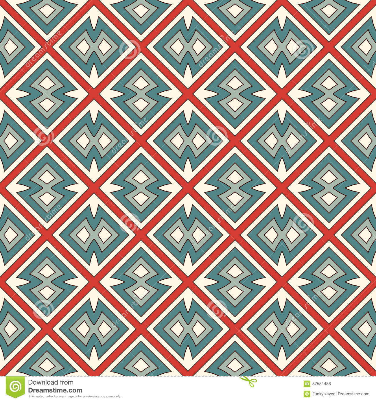 Ethnic Style Seamless Pattern. Native Americans Abstract