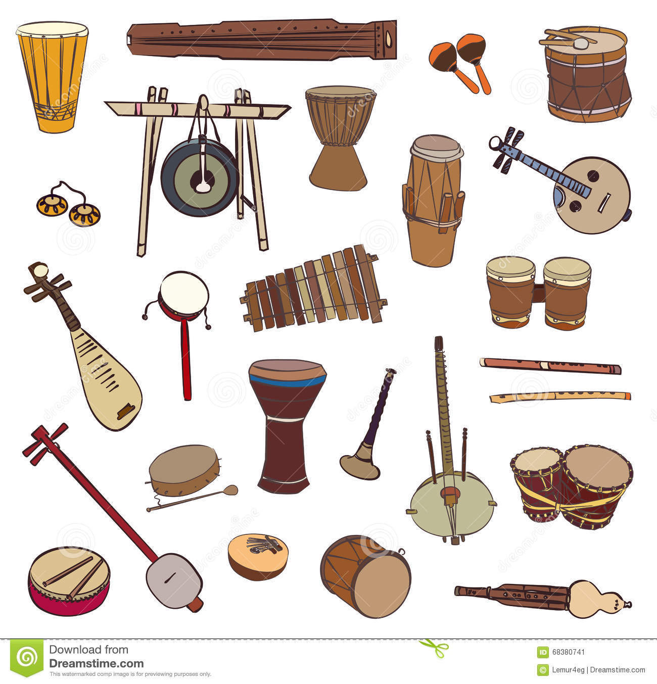 https://thumbs.dreamstime.com/z/ethnic-traditional-musical-instruments-vector-contour-set-music-billboard-white-background-68380741.jpg