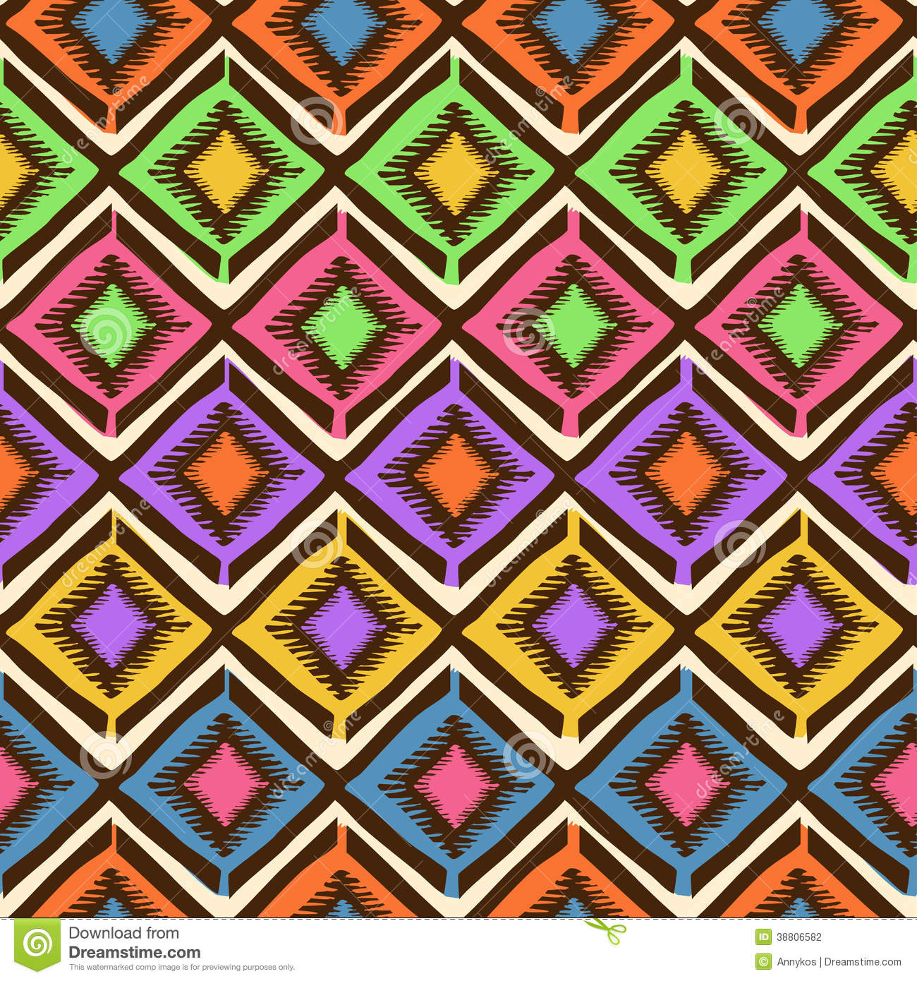 Ethnic Tribal Geometric Seamless Pattern Stock Vector - Image ...