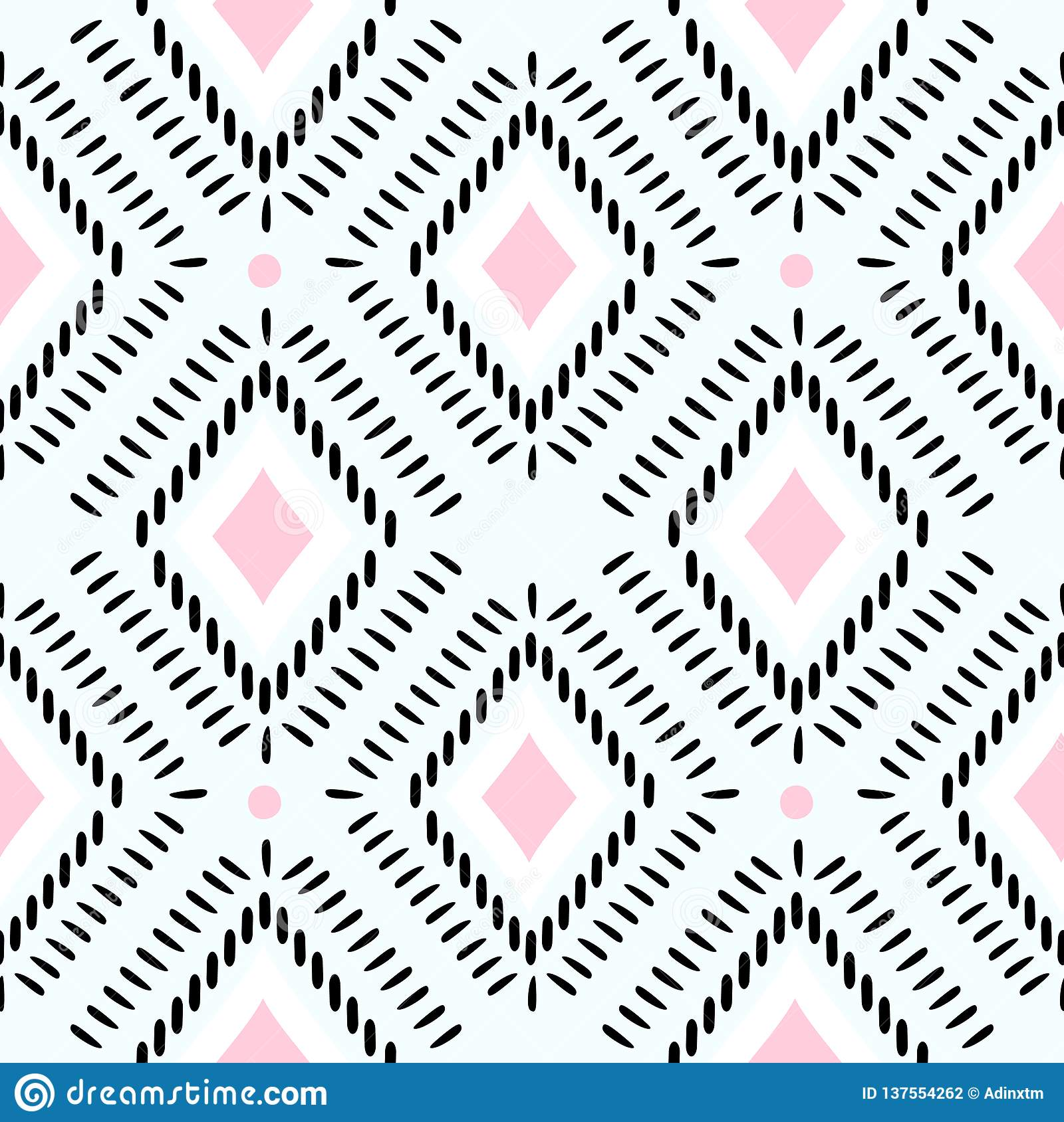 Ethnic tribal seamless pattern vector illustration, mandala abstract, ancient stripes aztec african style background vintage.