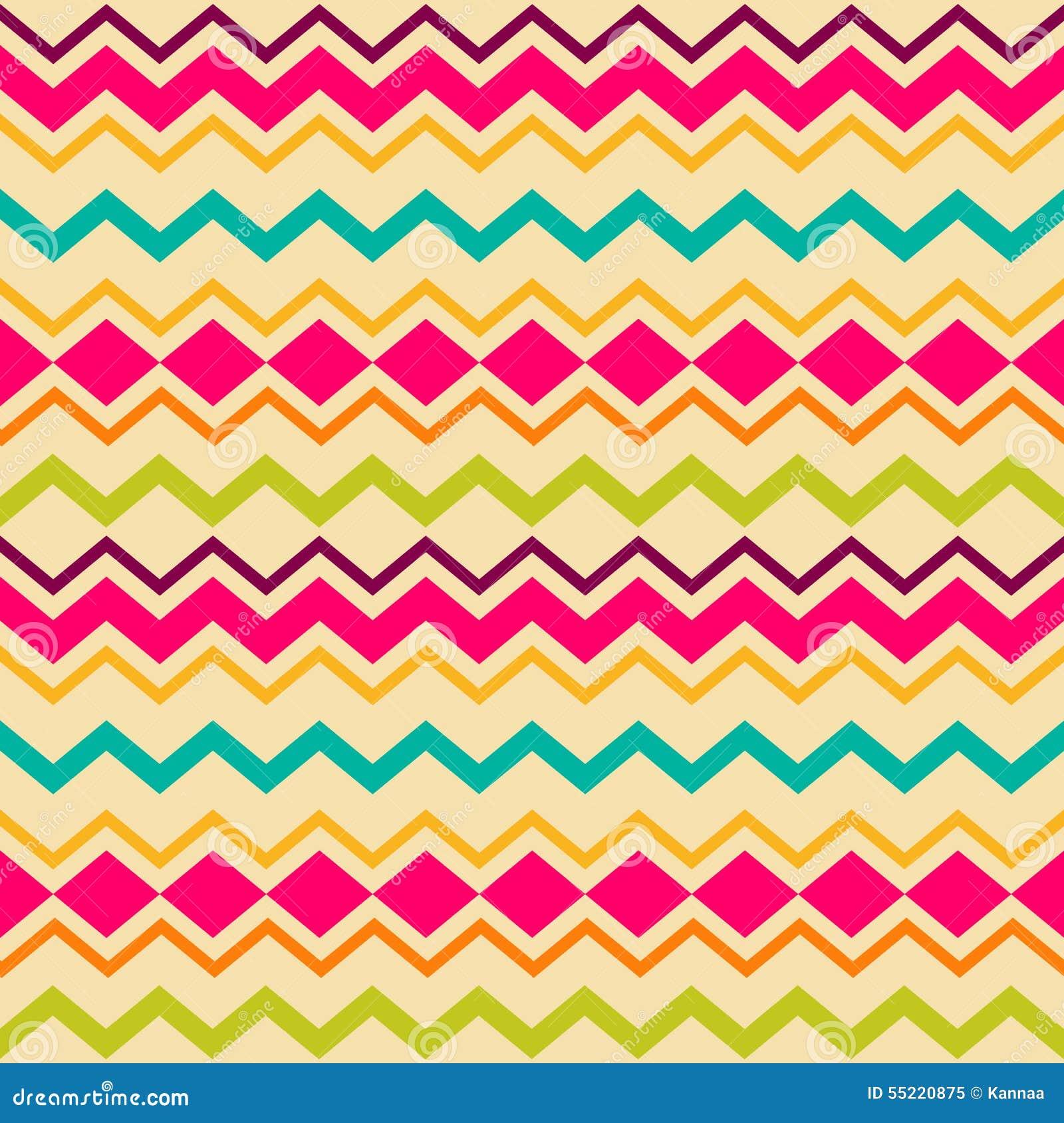 ethnic tribal zig zag seamless pattern stock vector image 55220875. Black Bedroom Furniture Sets. Home Design Ideas