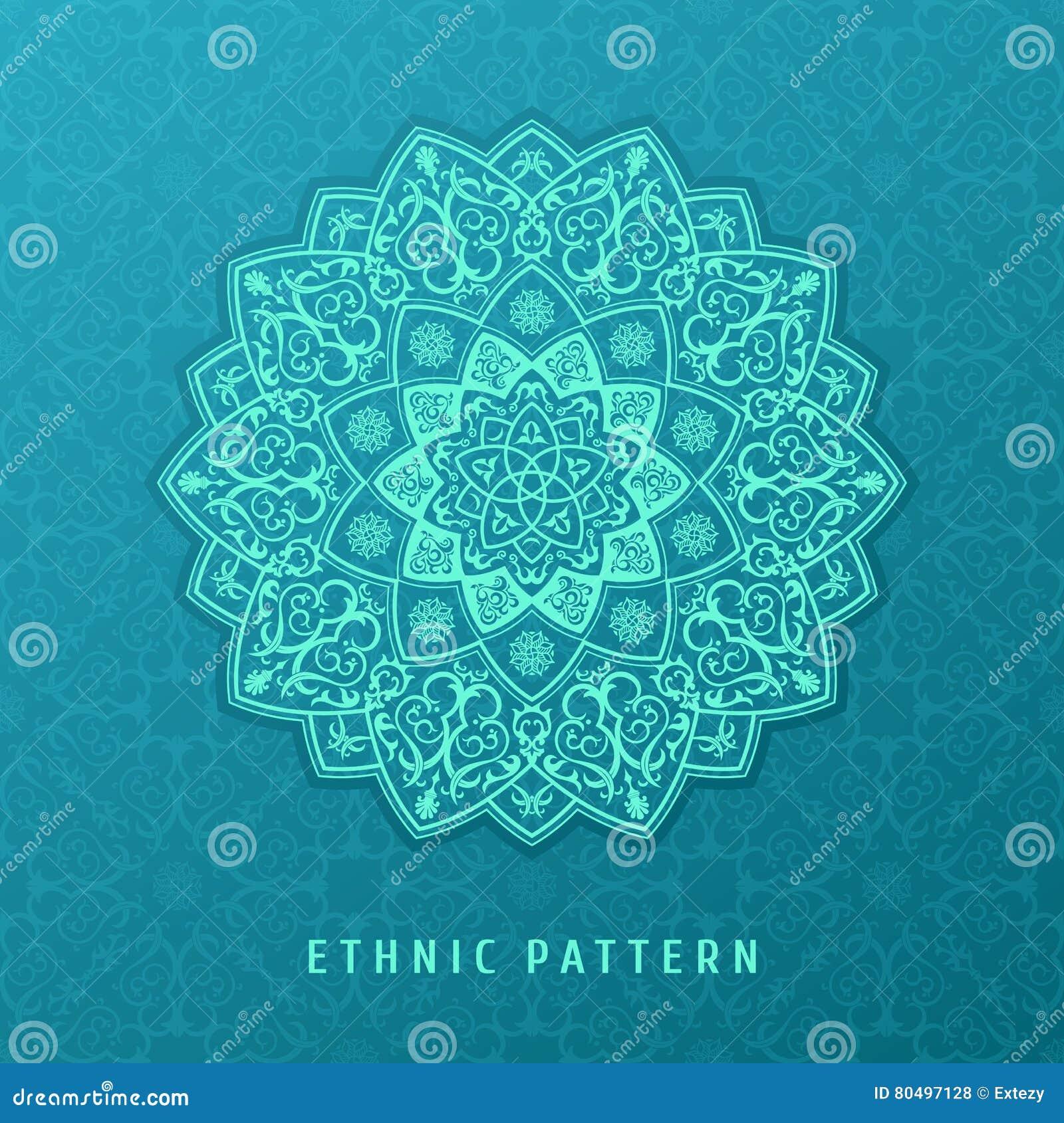 ethnic vector pattern mandala design for invitations cards labels