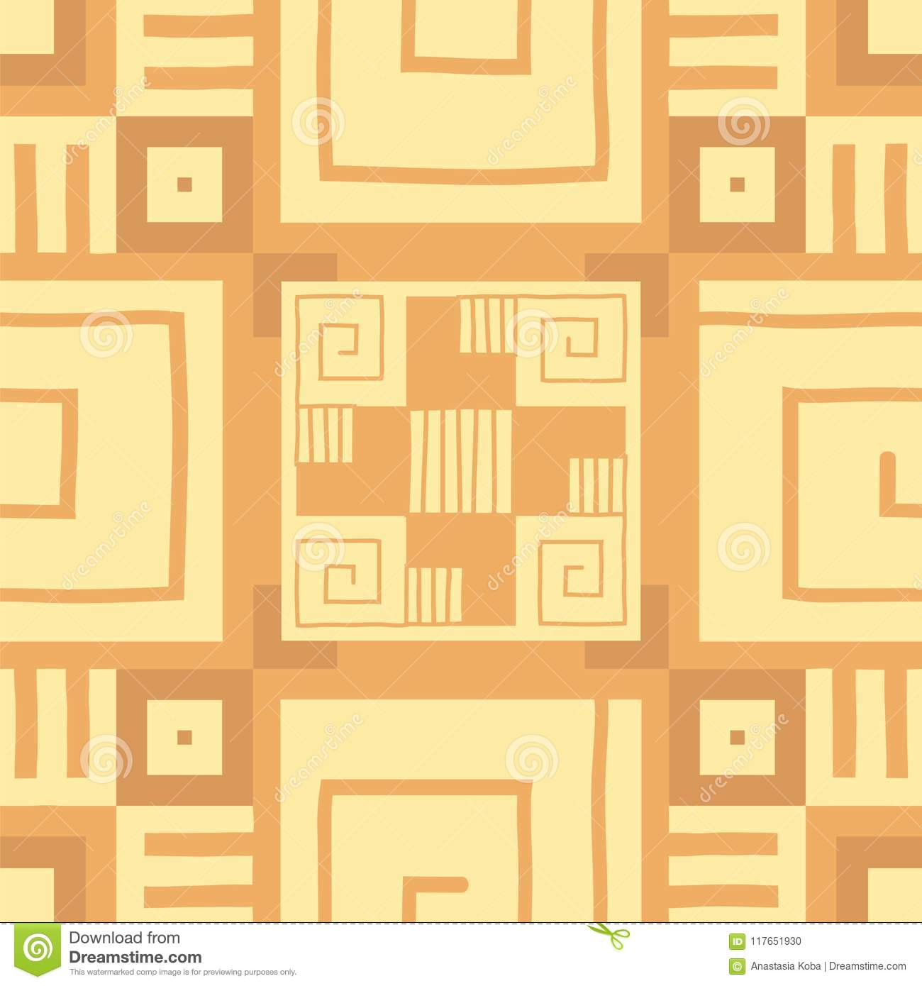 Ethnic Wallpaper Aztec Pattern Tribal Print Vector