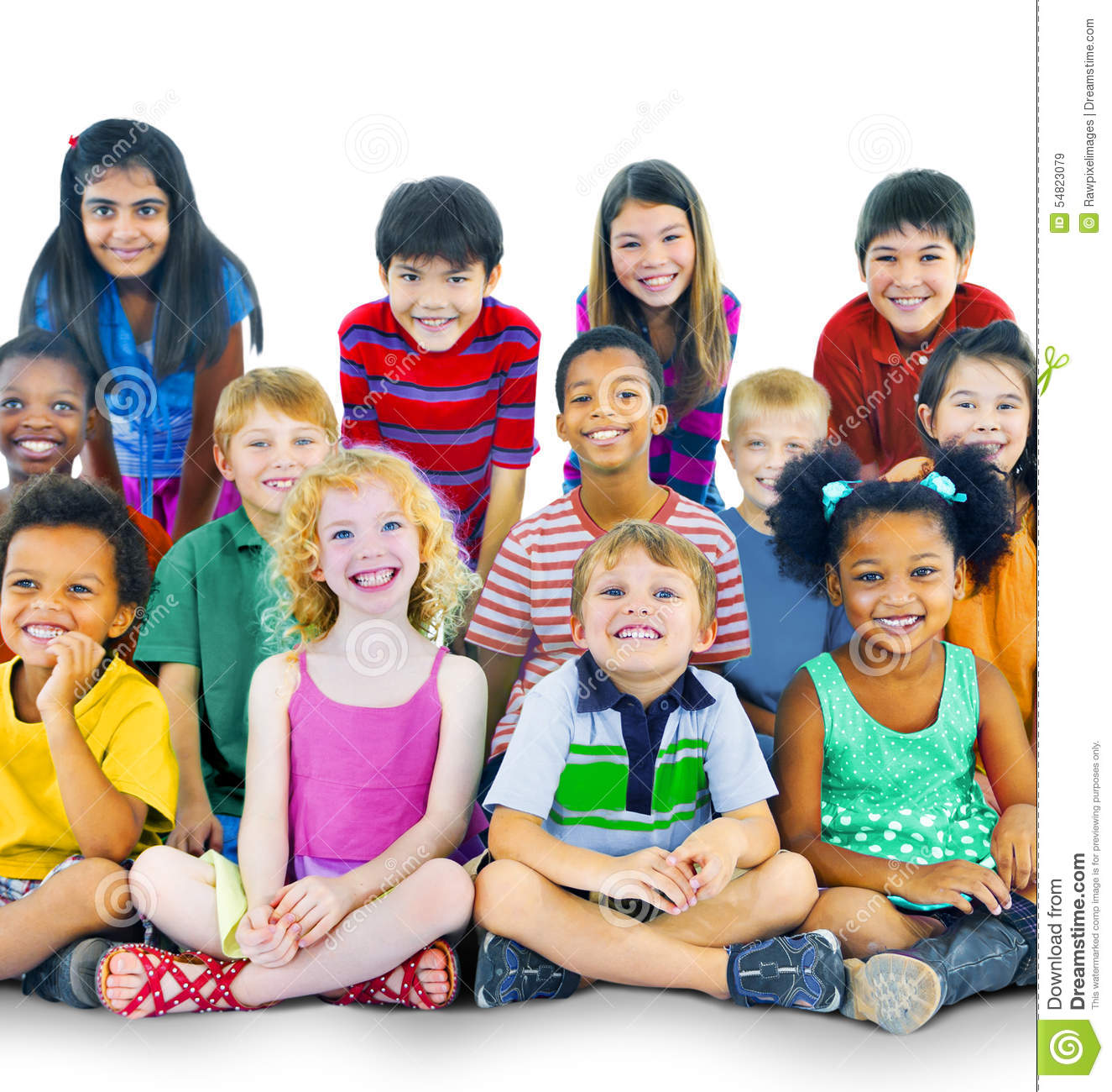 Ethnicity Diversity Gorup Of Kids Friendship Cheerful ...