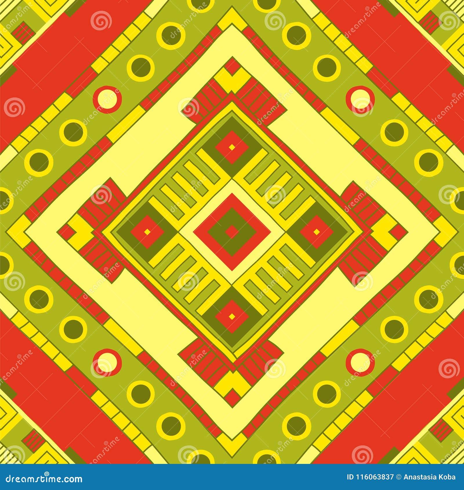 Ethnisches Muster Stammes- Kunst Afrikanisches Muster