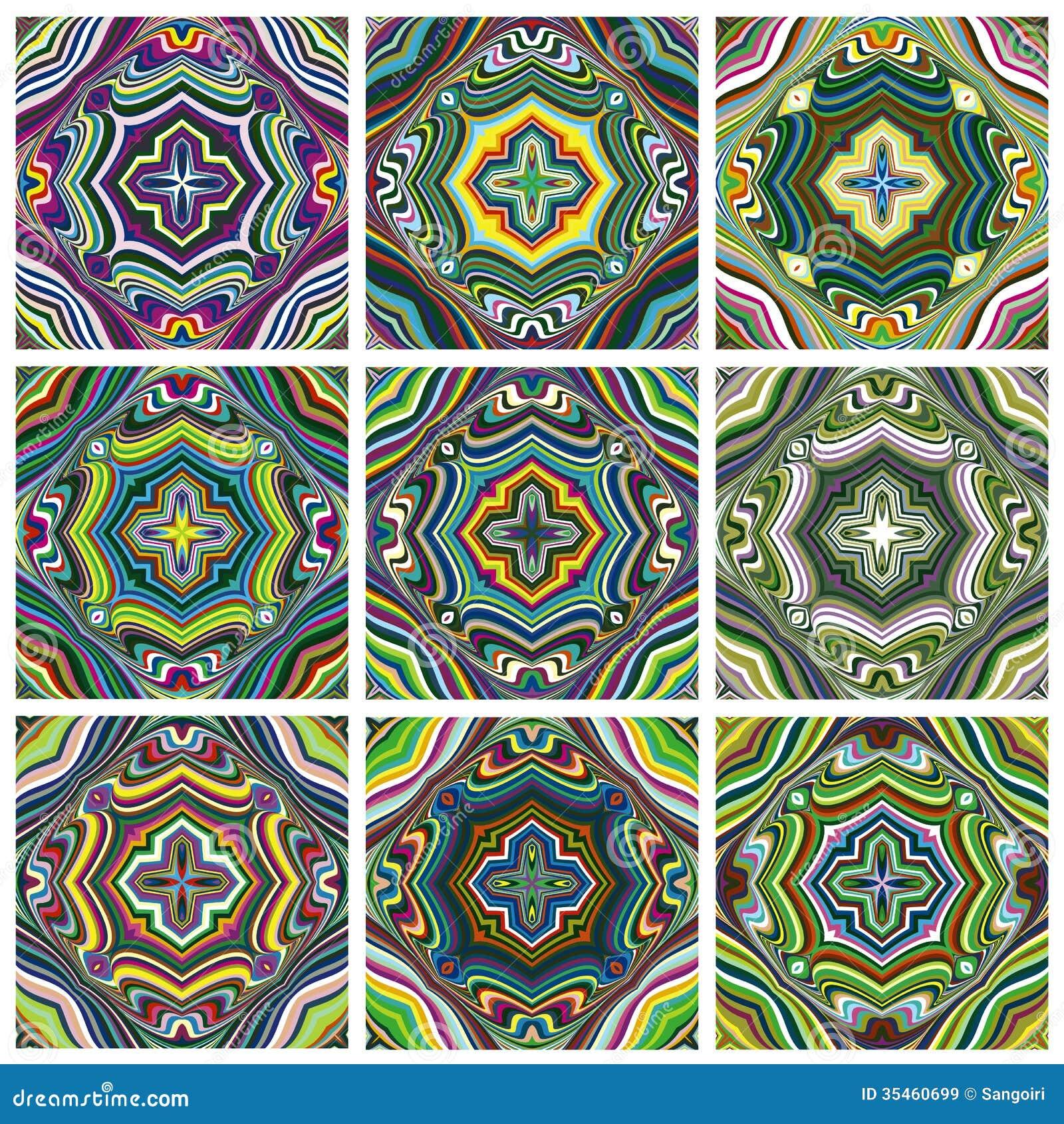 Ethno Muster ethno-muster-satz vektor abbildung. illustration von mayas - 35460699