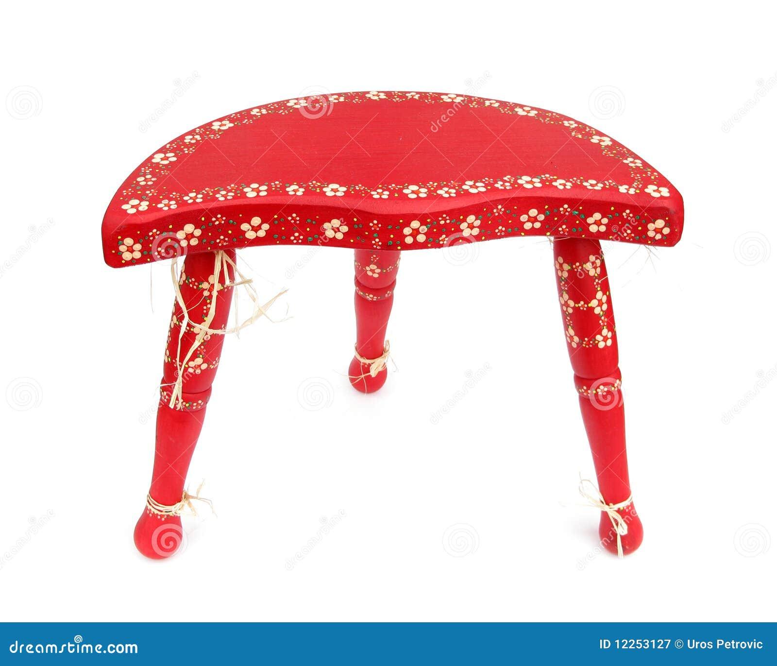 Ethno rode driepoot van de stoel royalty vrije stock fotografie beeld 12253127 - Stoel rode huis van de wereld ...