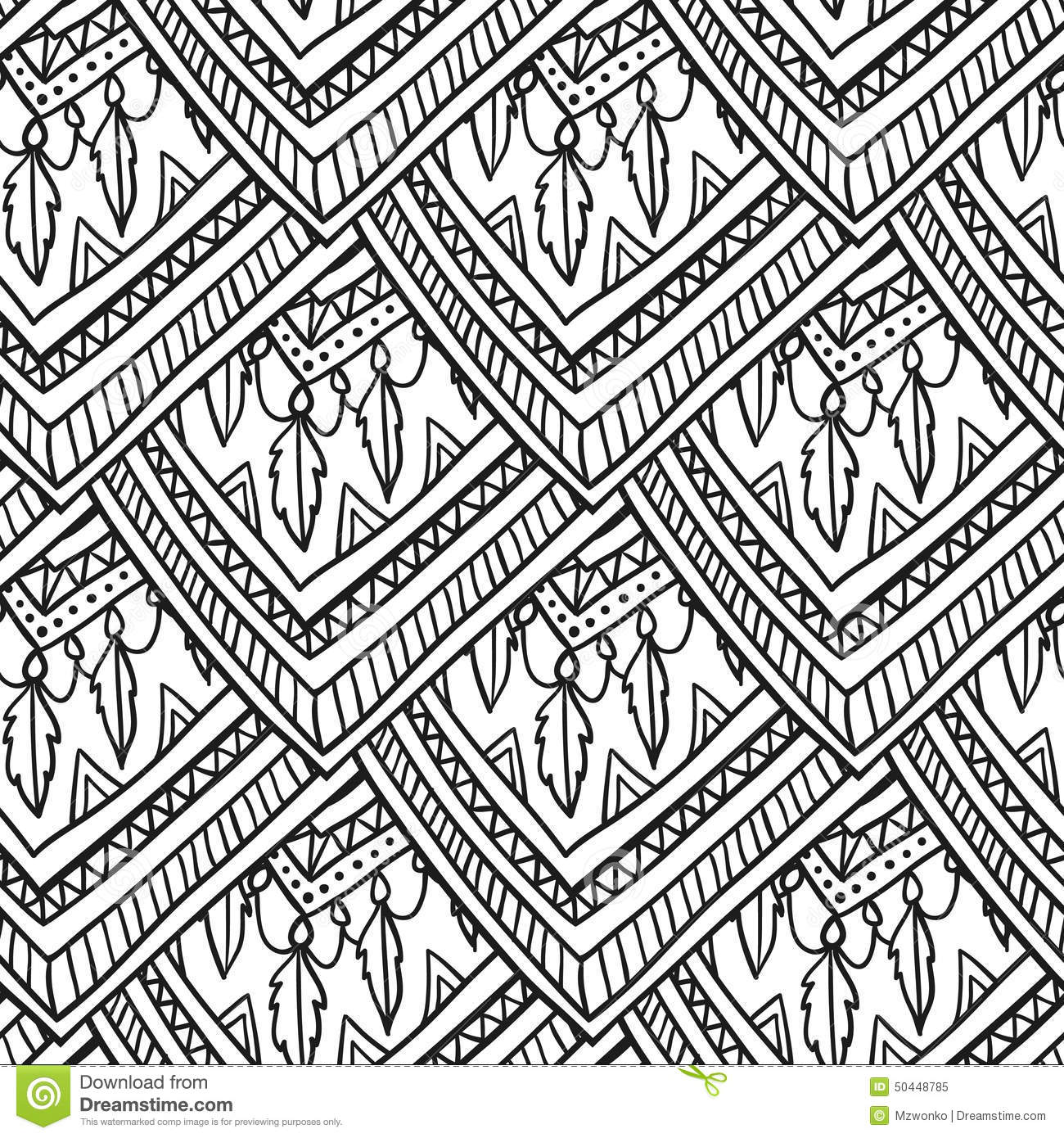 download ethno romb pattern stock illustration illustration of asian 50448785 - Ethno Muster