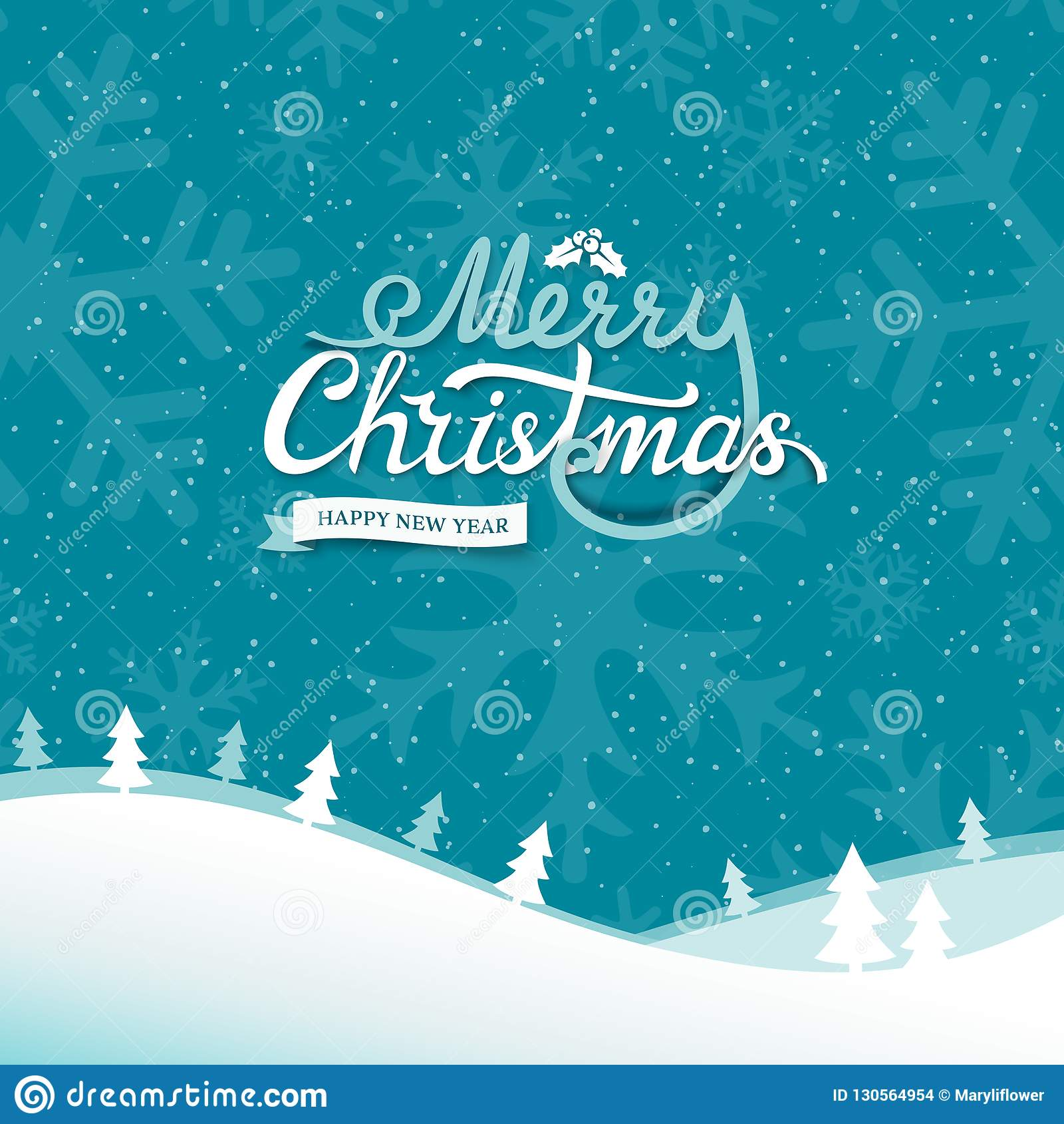 Buon Natale Del C Testo.Etichetta Calligrafica Del Testo Del Nuovo Anno E Di Buon Natale Con