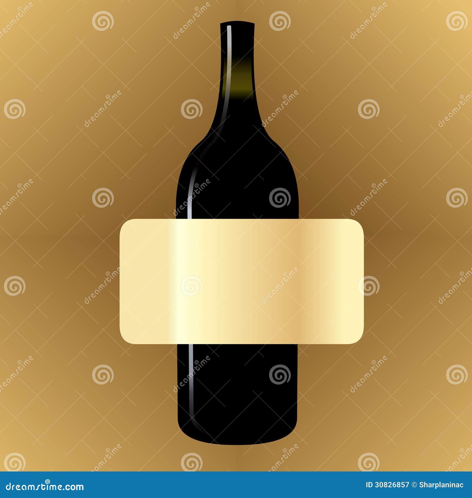 Etichetta d annata in bianco del vino