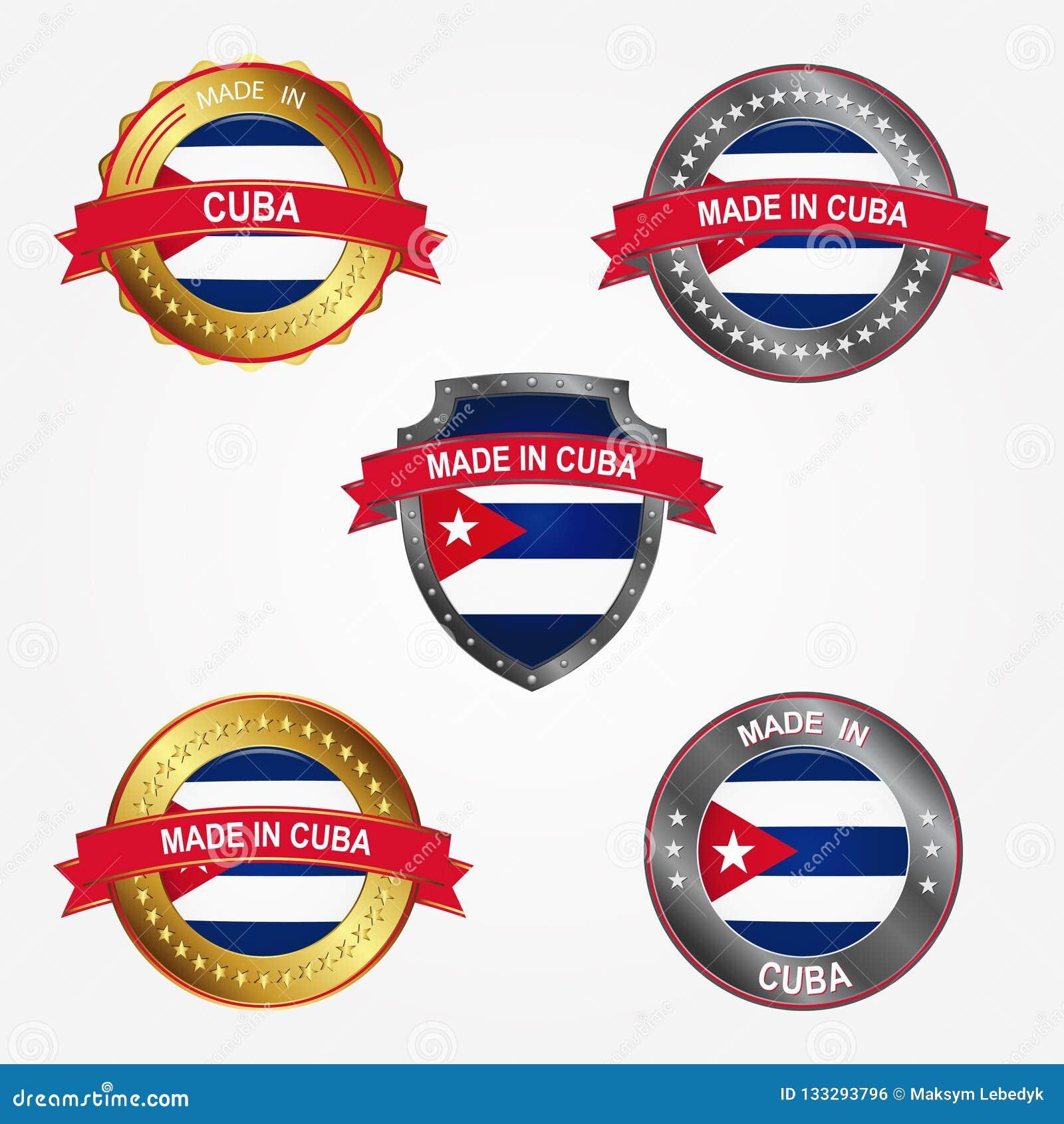 Etichetta di progettazione del fatto di in Cuba Illustrazione di vettore