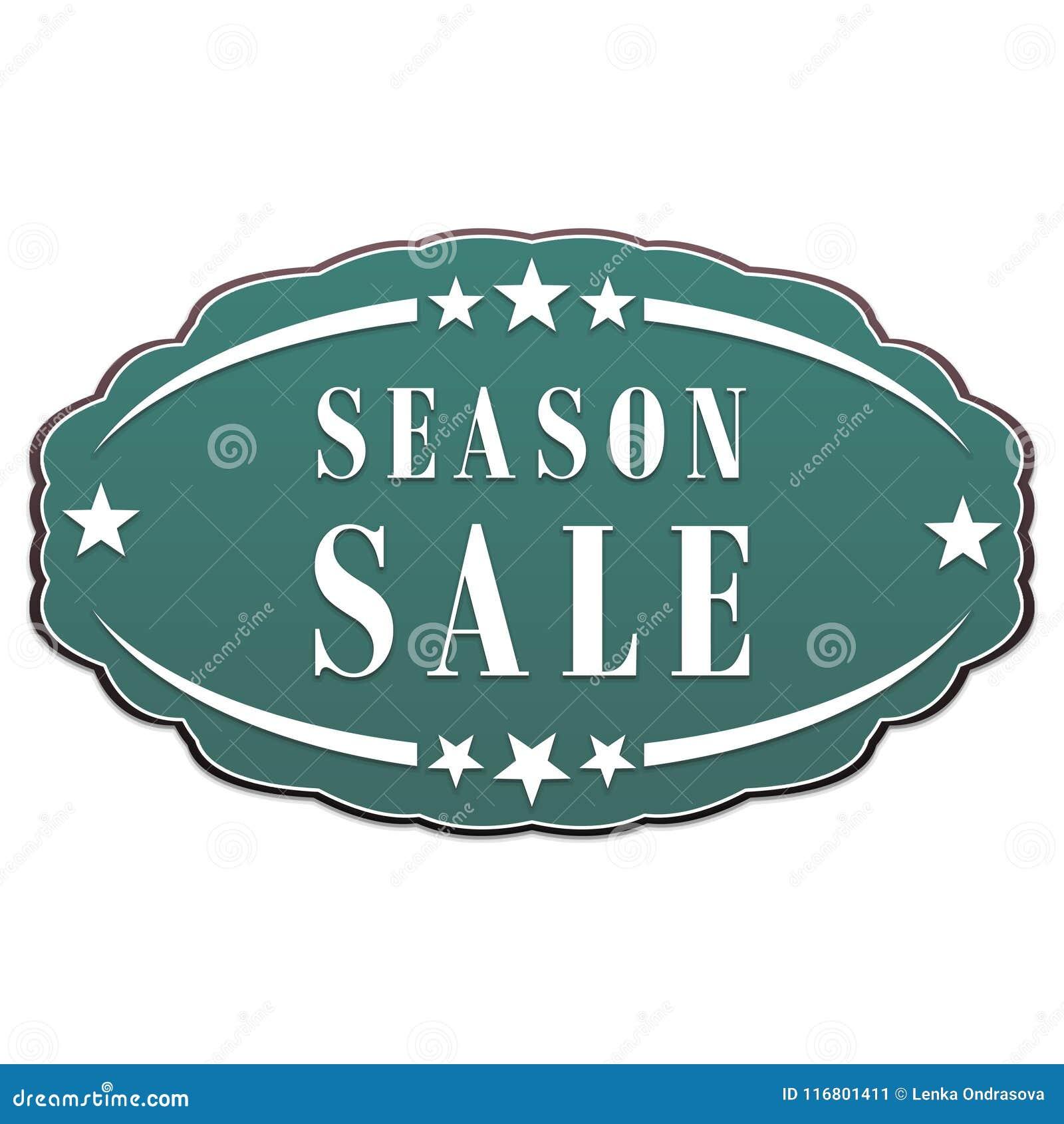 Etichetta di vendita di stagione