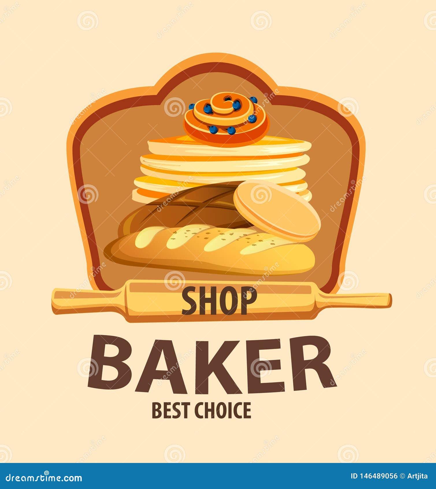 Etichetta di vettore del pane