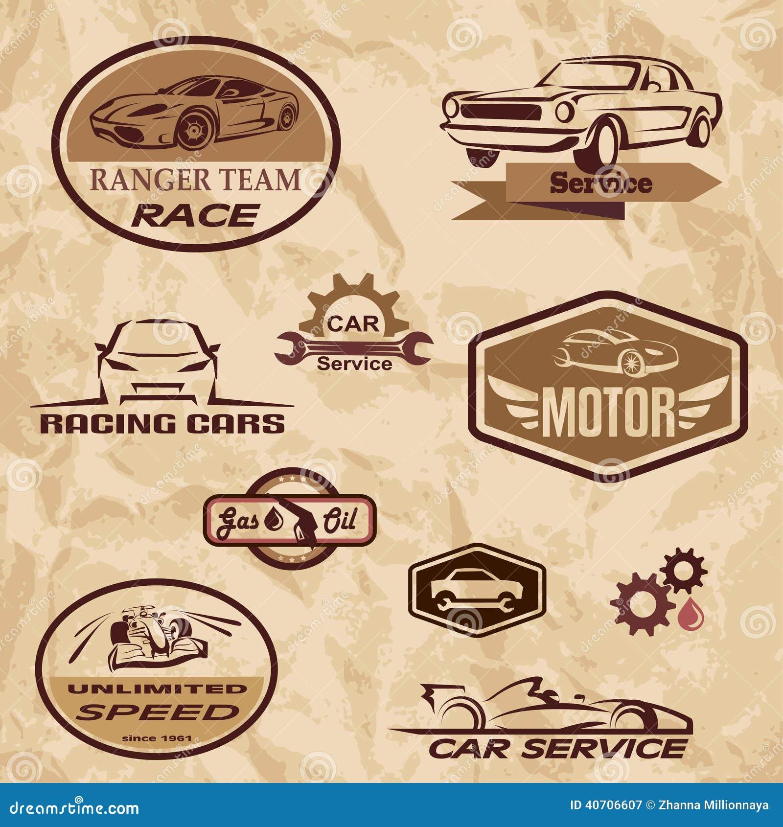 Etichette dell annata delle vetture da corsa