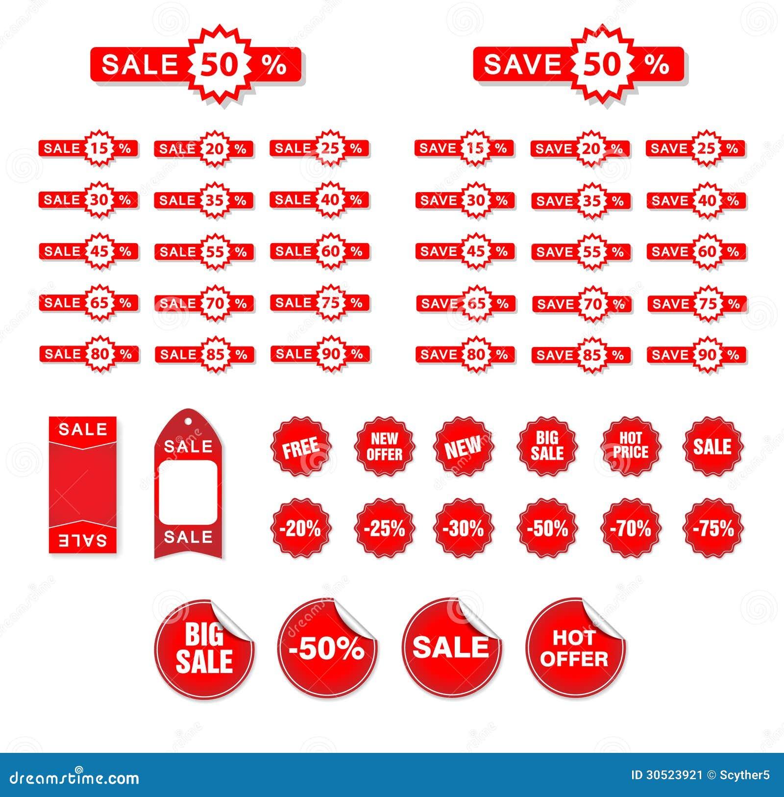 Etichette di vendita di vettore