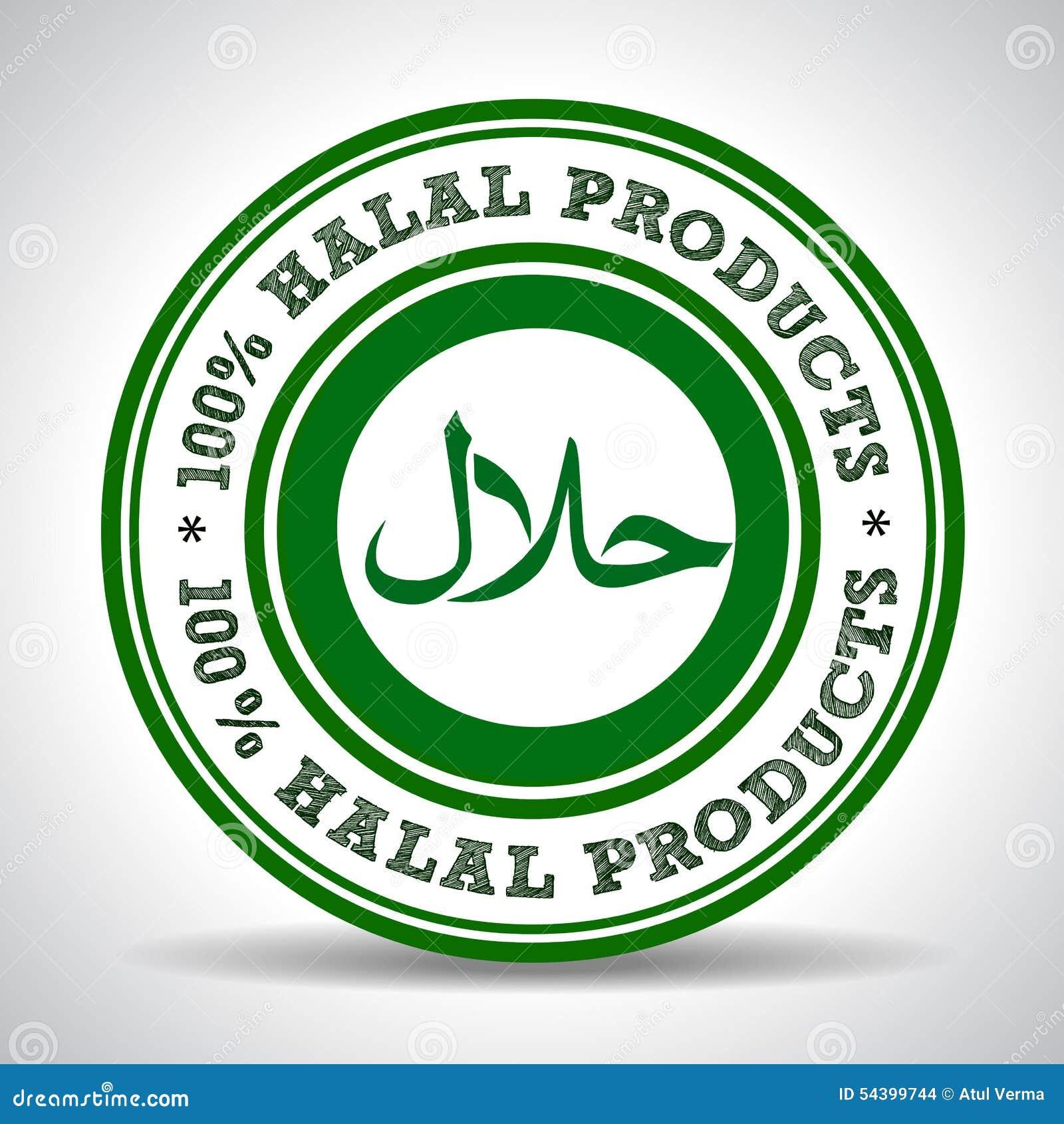 100  etichette di verde del prodotto, marchio halal certificato halal dell alimento