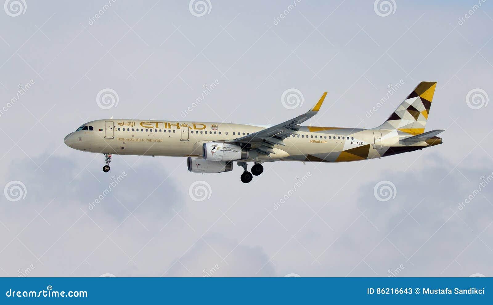 Etihad Airways Airbus A321 Plane