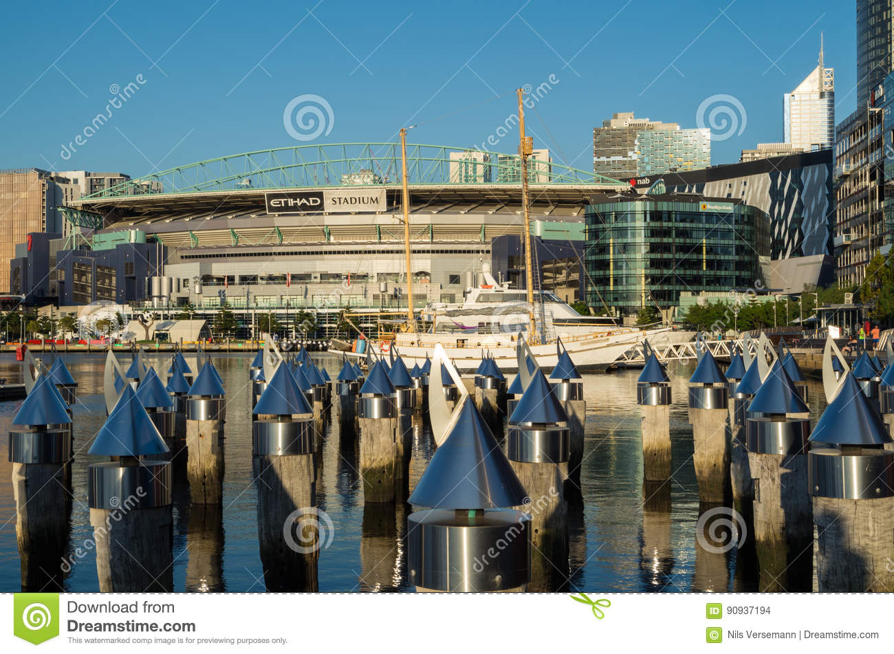 Etihad Stadium In Melbourne Docklands Editorial Stock Image - Image of  outdoor, yacht: 90937194