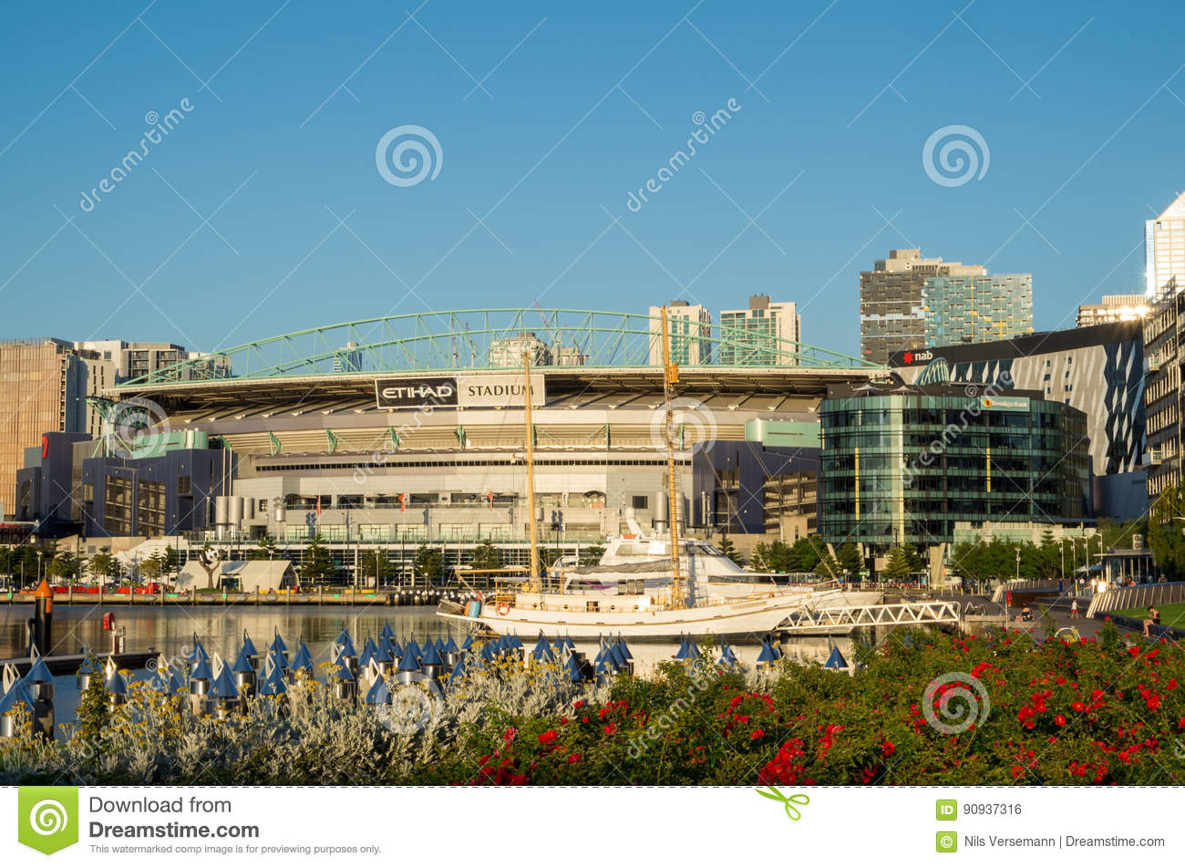 Etihad Stadium In Melbourne Docklands Editorial Photo - Image of outdoor,  rules: 90937316