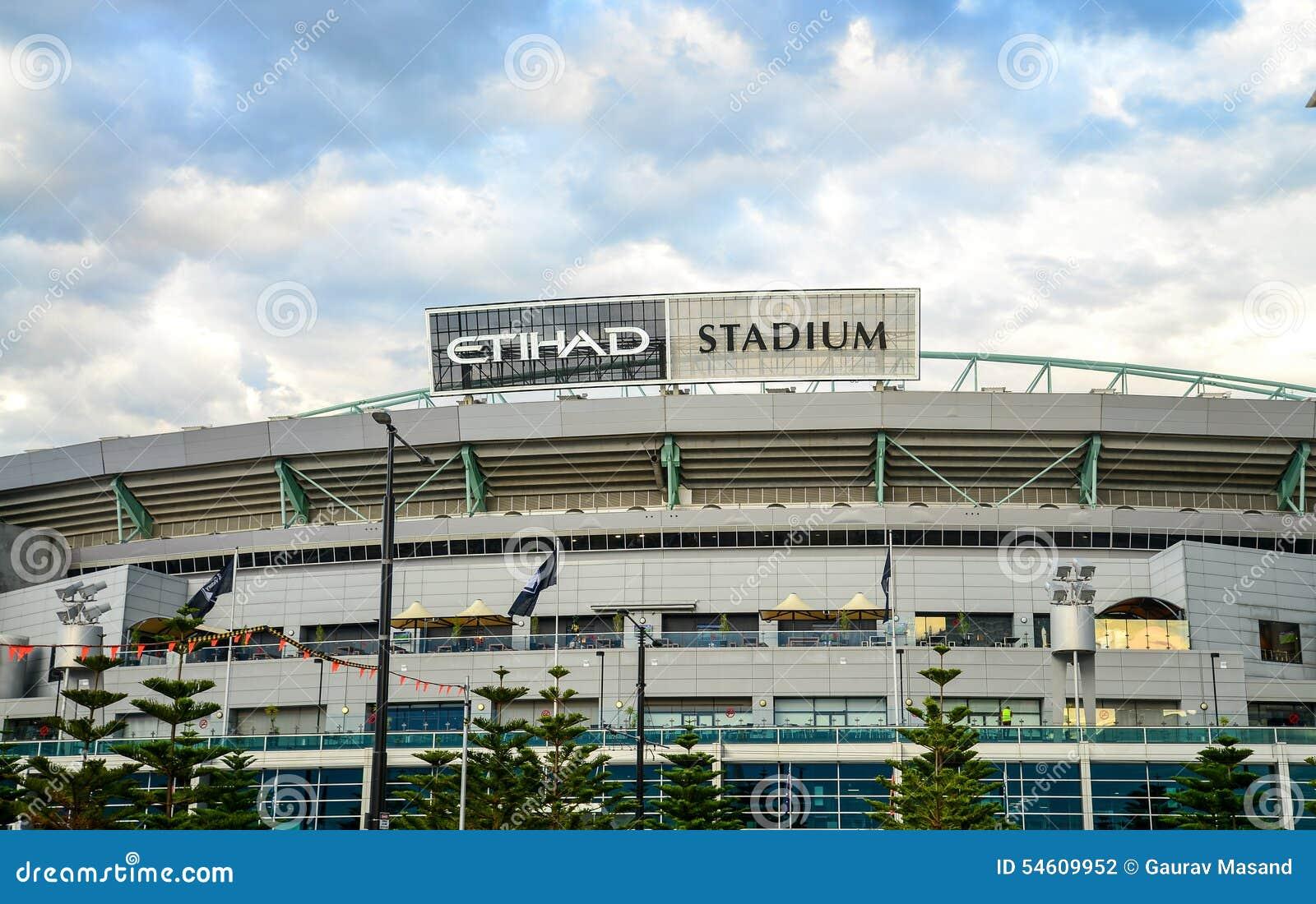 Etihad stadium melbourne editorial photography. Image of australia -  54609952