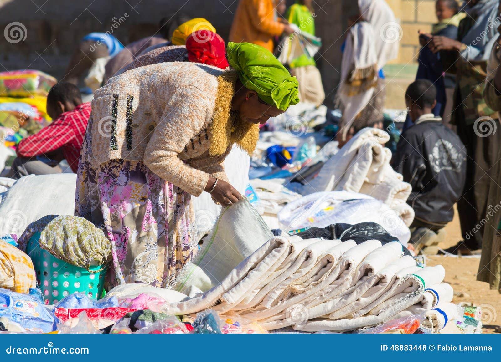 Etiopisk gatamarknad