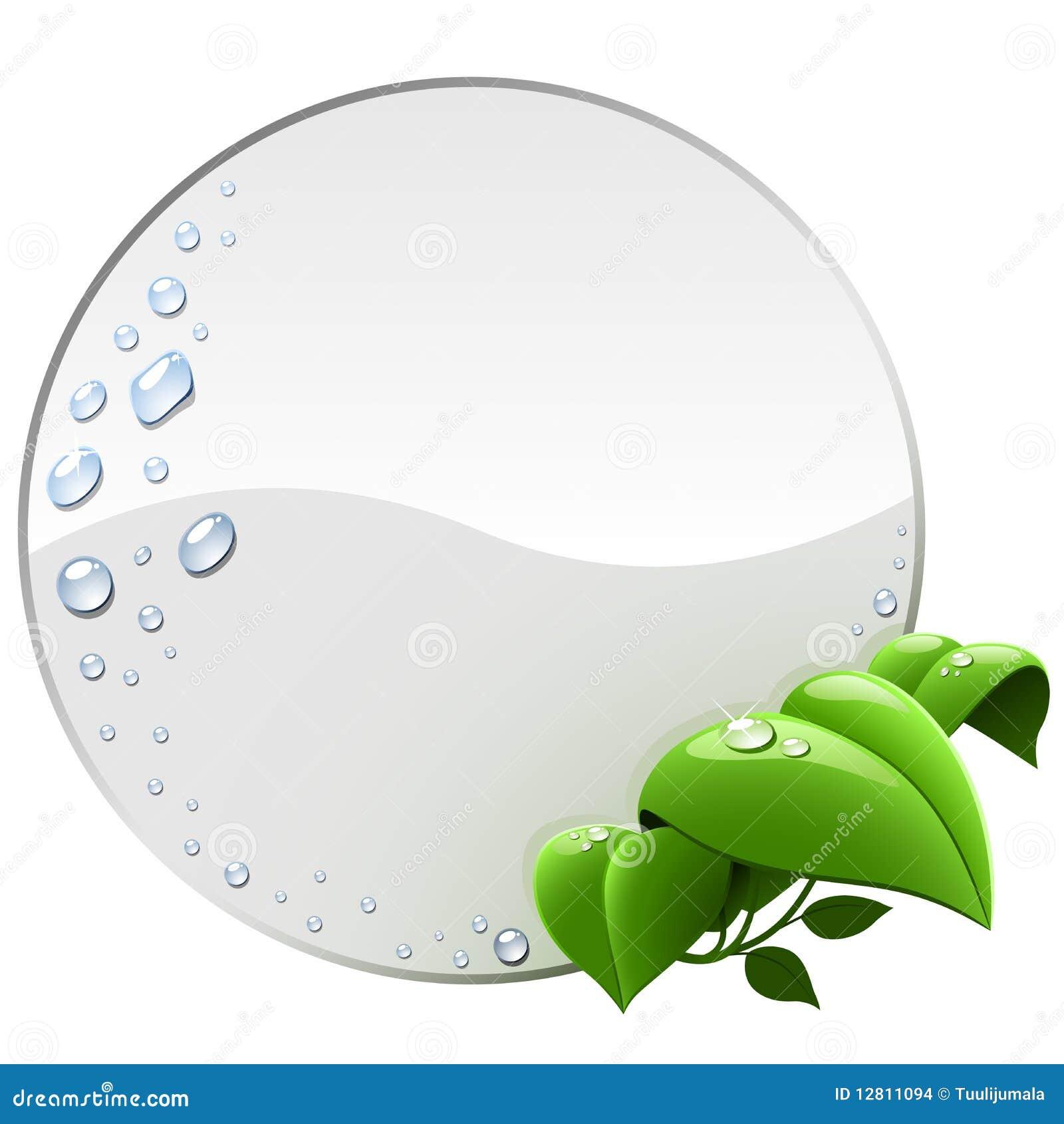 Etiqueta ambiental em branco