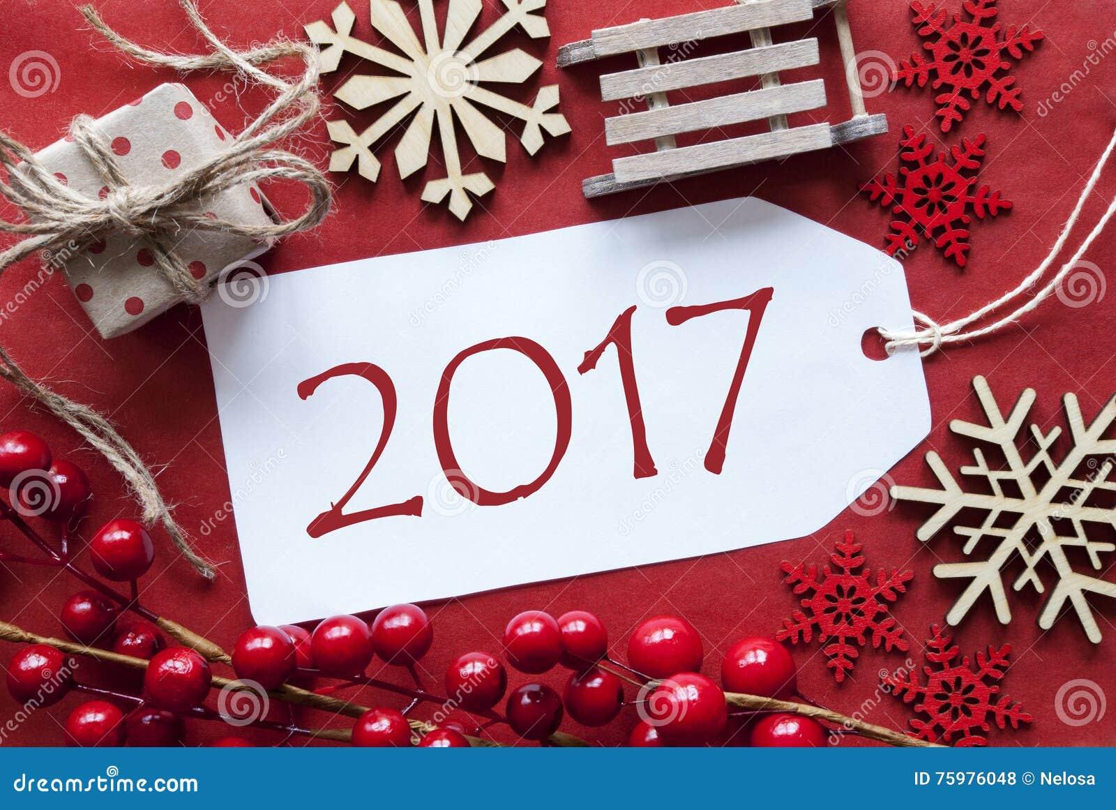 Etiqueta con la decoraci n de la navidad texto 2017 foto de archivo imagen 75976048 - Decoracion de navidad 2017 ...