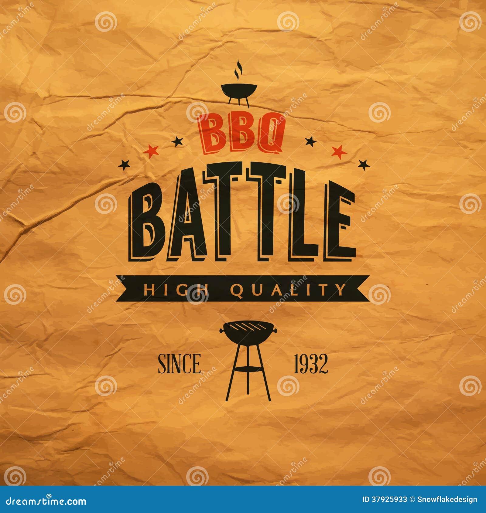 Etiqueta da batalha do BBQ