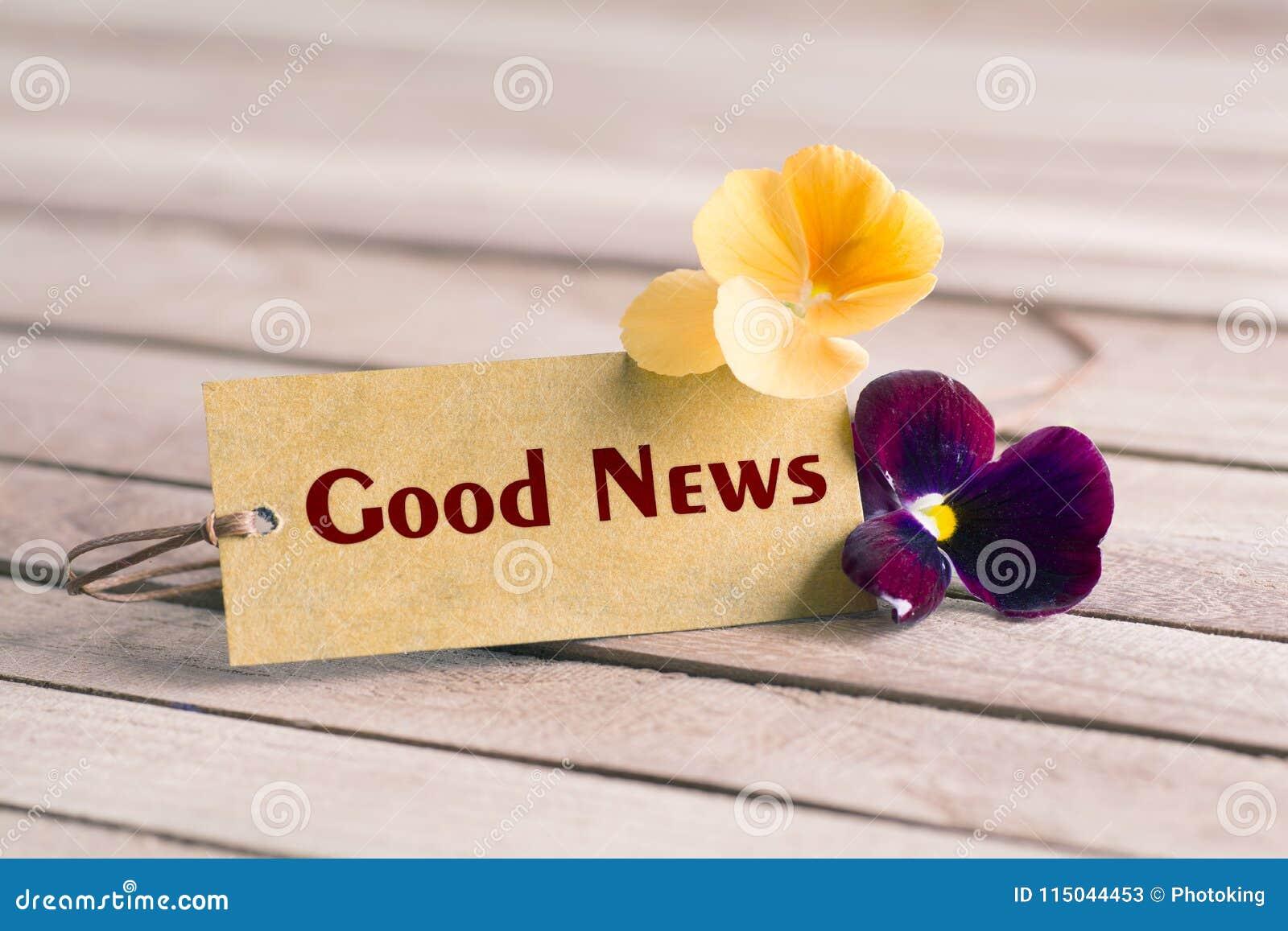 Etiqueta da boa notícia